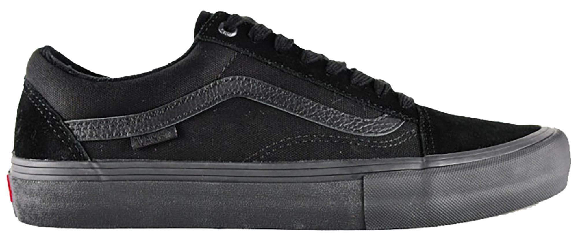 vans old skool pro all black