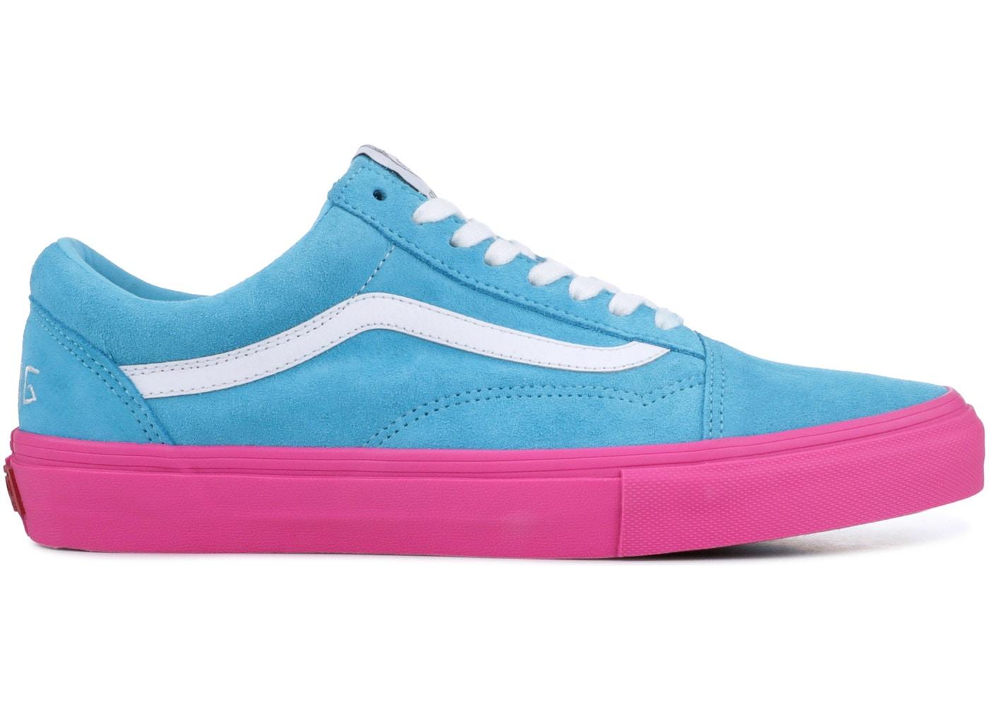 3e46b2a45d Vans Old Skool Pro S Golf Wang Blue Pink - VN0QHMF5E