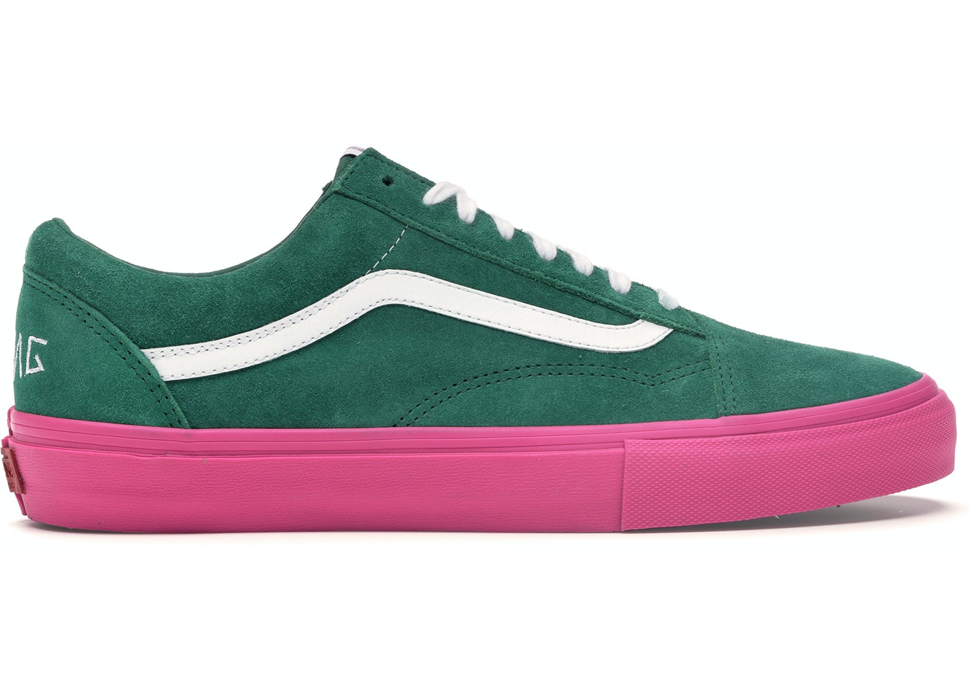 c38a4adf40ea9c Vans Old Skool Pro S Golf Wang Green Pink - VN0QHMF5G