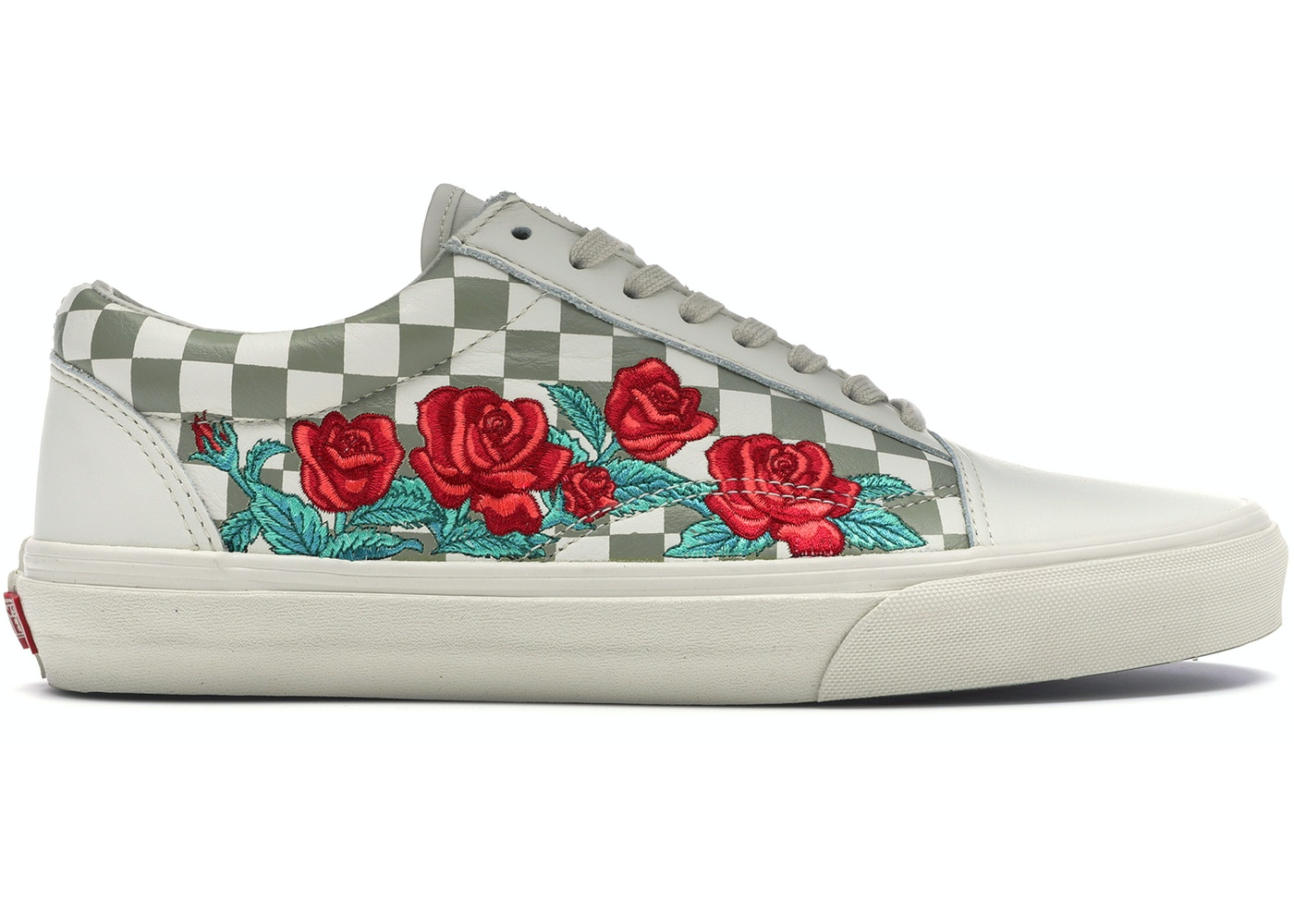 new release great deals 2017 up-to-date styling Vans Old Skool Rose Embroidery (White)