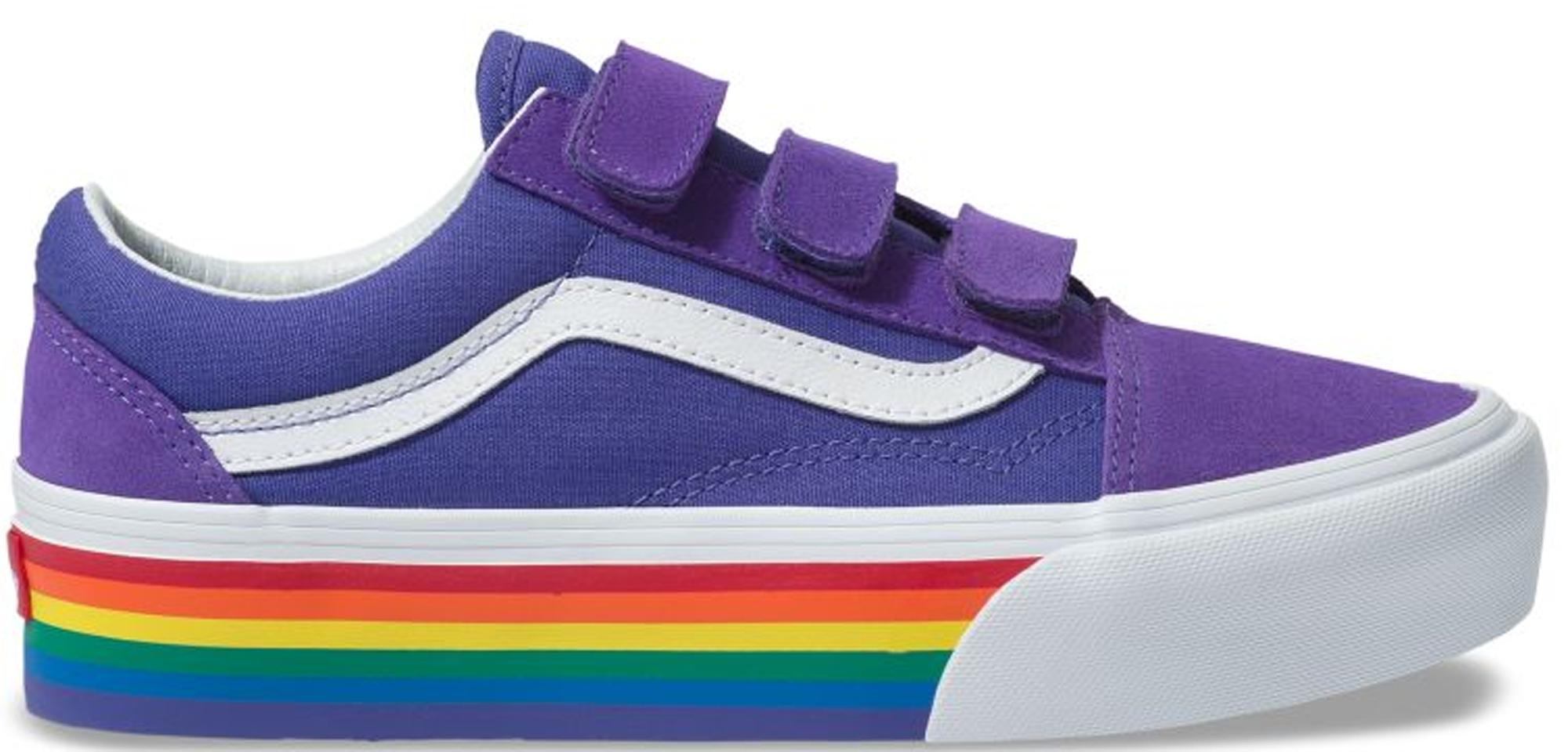 Vans Old Skool V Platform Rainbow Pride