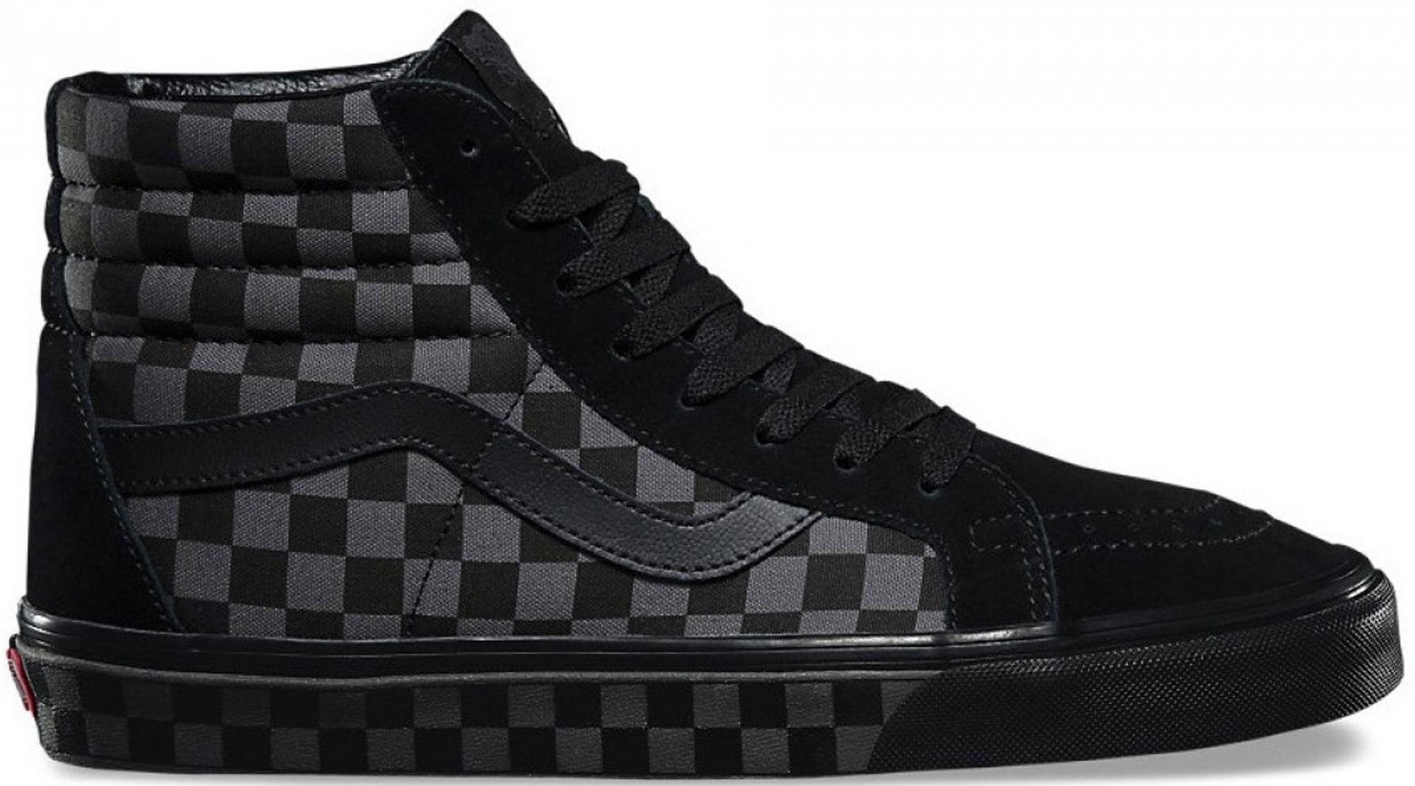 Vans Sk8-Hi Checkerboard Black Pewter