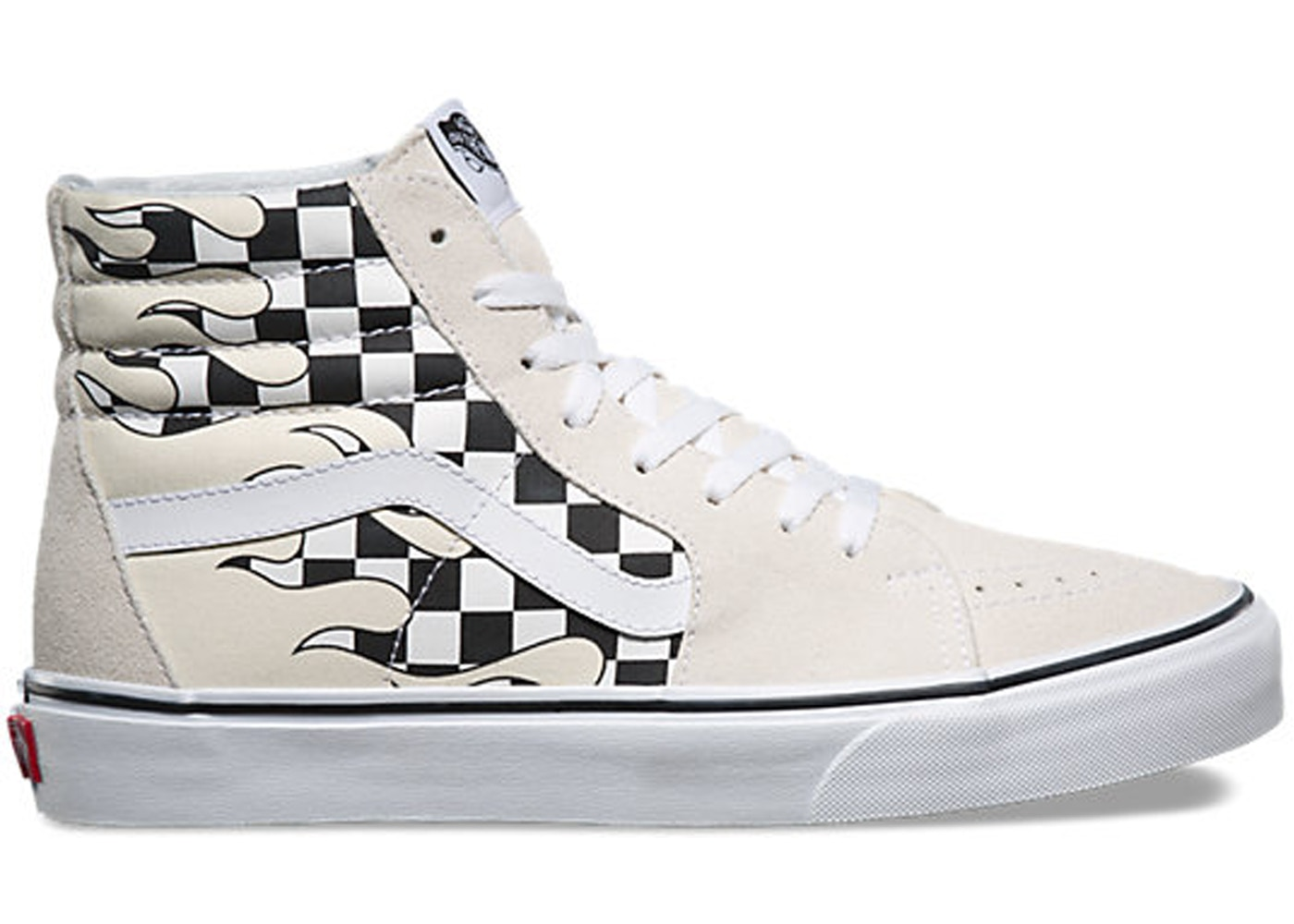 Vans Sk8-Hi Checkerboard Flame White