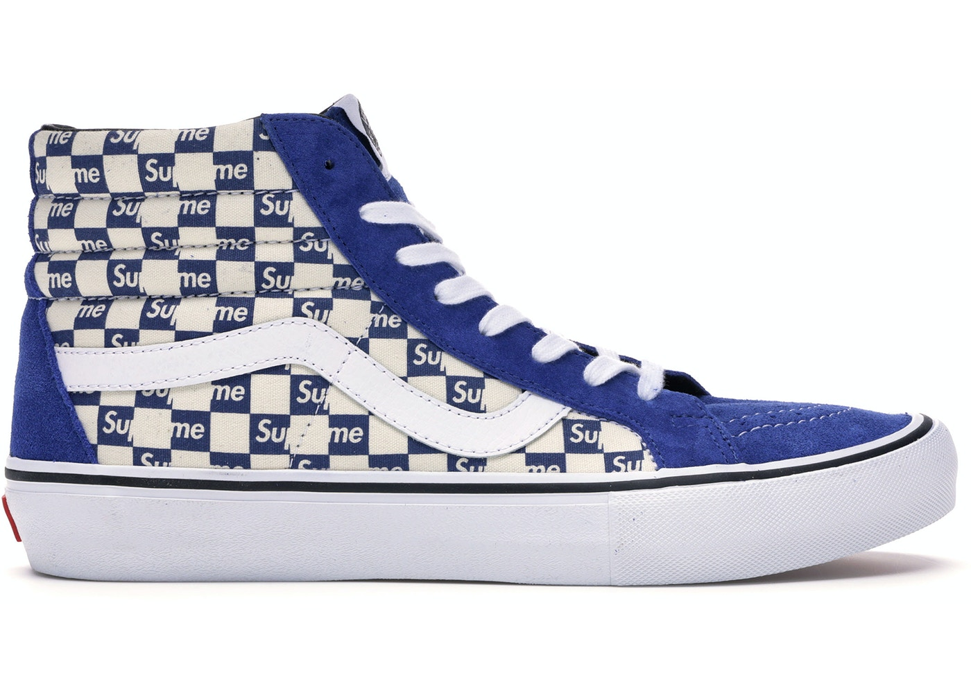 blue vans with checkers