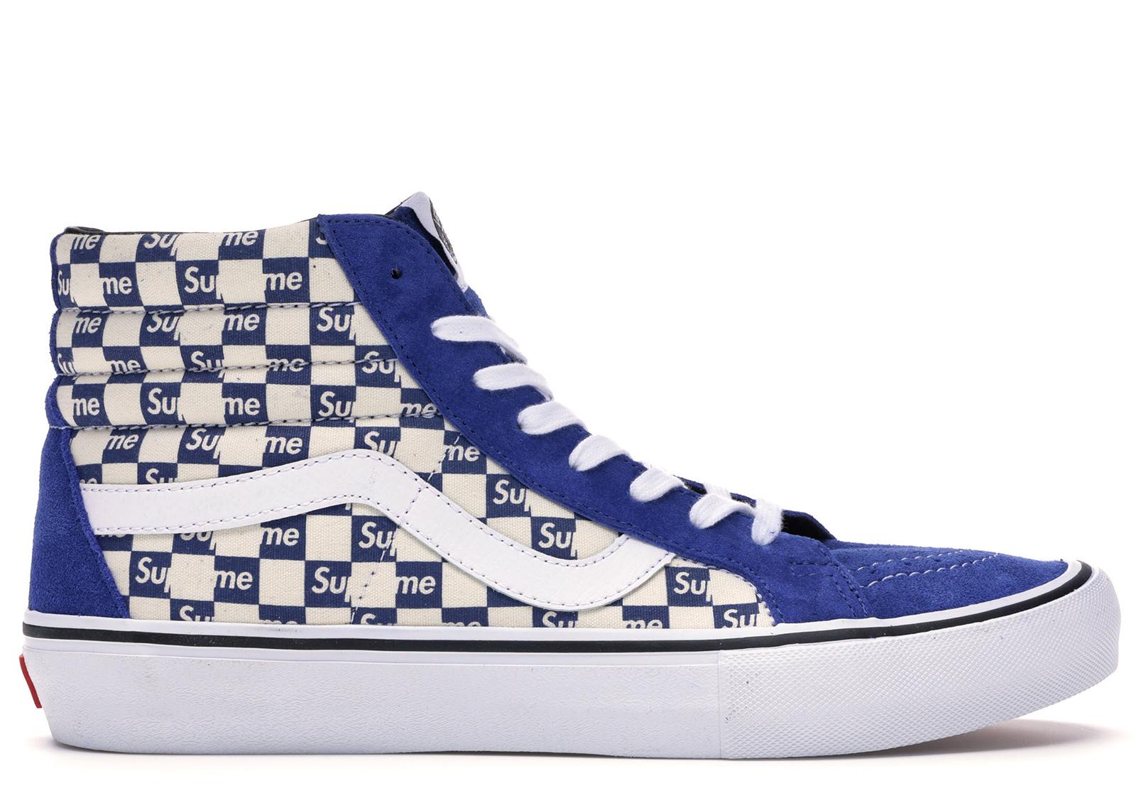 Vans Sk8-Hi Supreme Blue Checker Logo