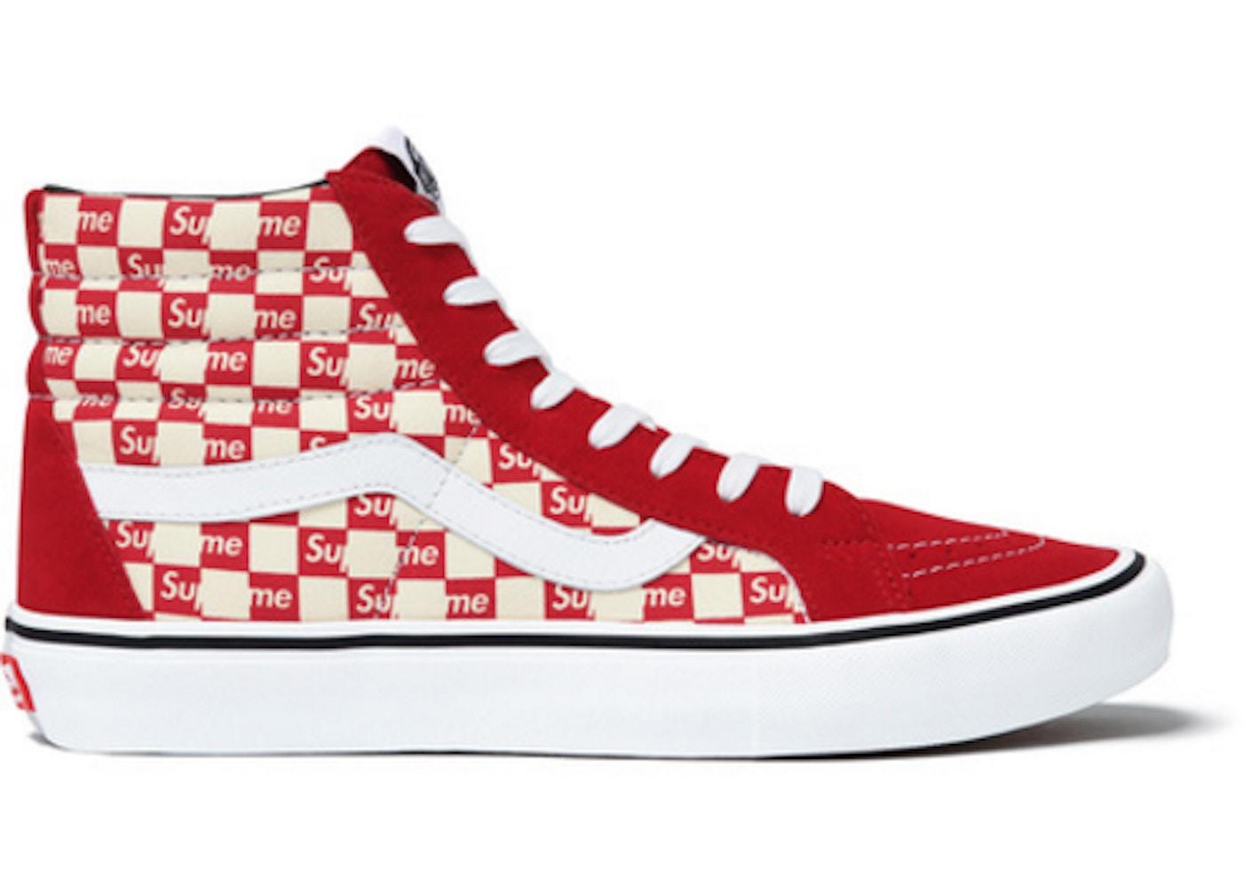 d5d5c6be5d Vans Sk8-Hi Supreme Red Checker Logo - TBD