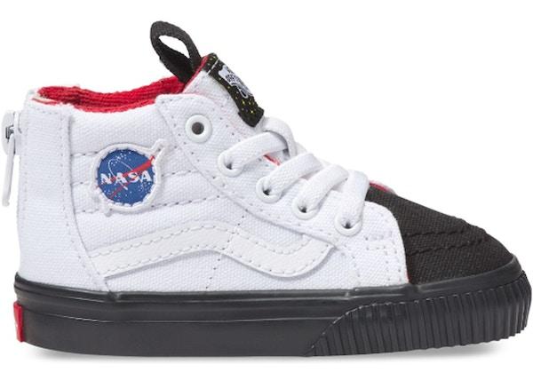 530bc07a455 Vans Sk8-Hi Zip NASA Space Voyager True White (TD) - VN0A32R3UJS