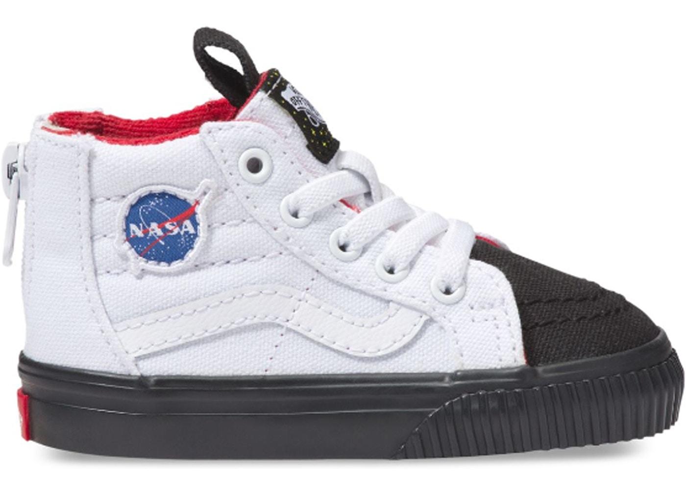 379a14bf77d8c4 Vans Sk8-Hi Zip NASA Space Voyager True White (TD) - VN0A32R3UJS