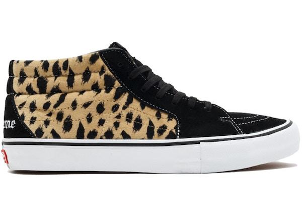 b03eb689505 Vans Sk8-Mid Supreme Velvet Leopard Black - VN0A347UOPM