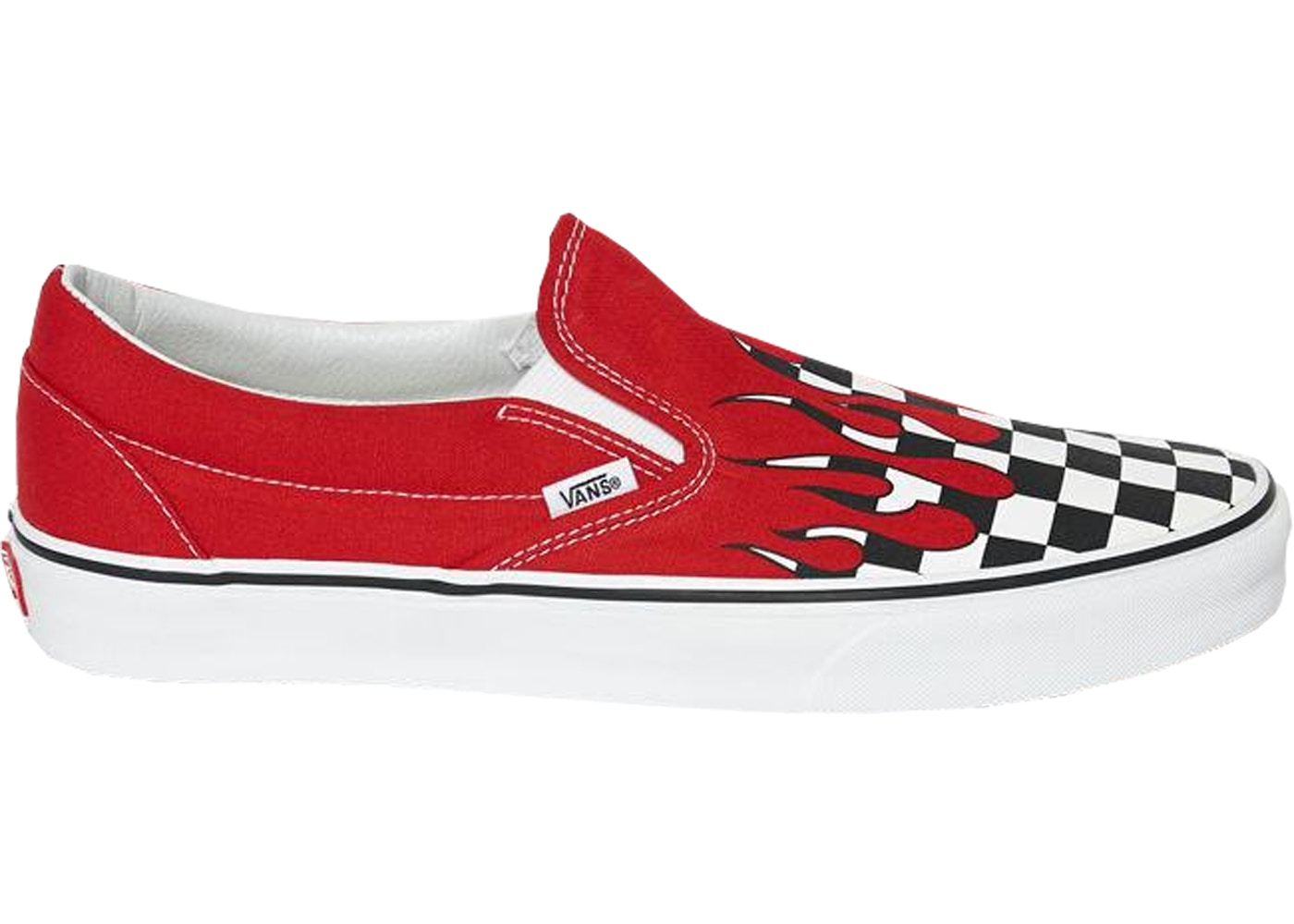 vans slip-on flame