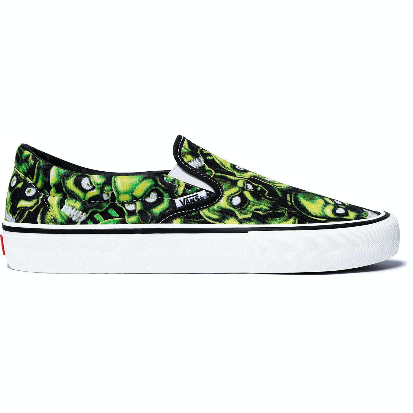 Vans Slip-On Supreme Skull Pile (Green)