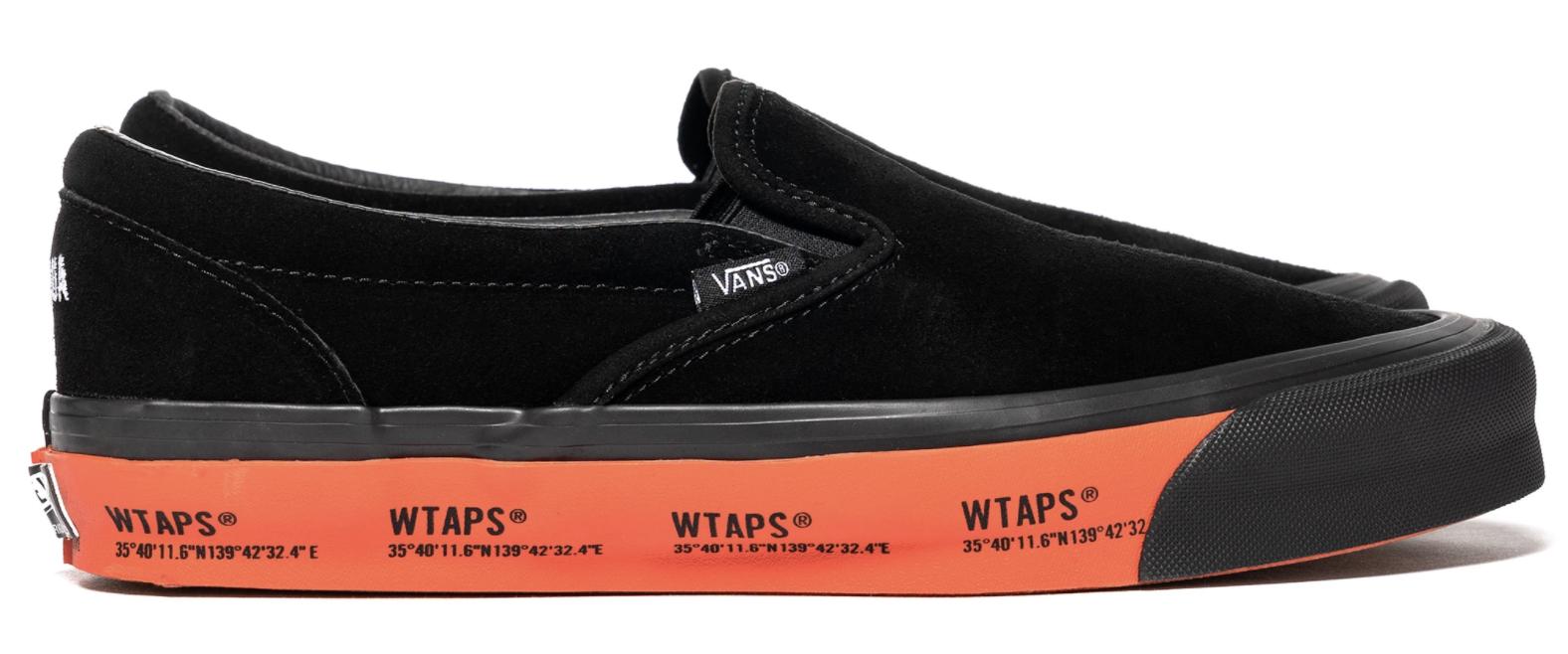 Vans Slip-On WTAPS Black Orange