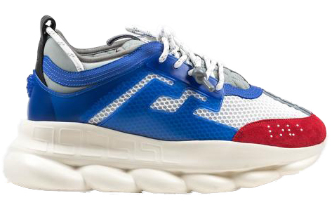 Versace Chain Reaction White Blue Red