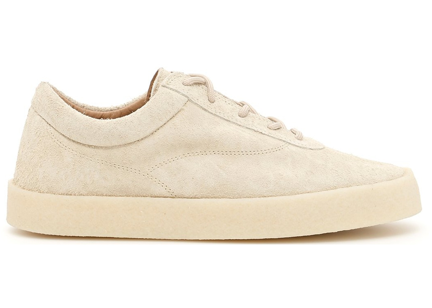 07bc496bc2329 Yeezy Crepe Sneaker Season 6 Thick Shaggy Suede Chalk - KM5001.037