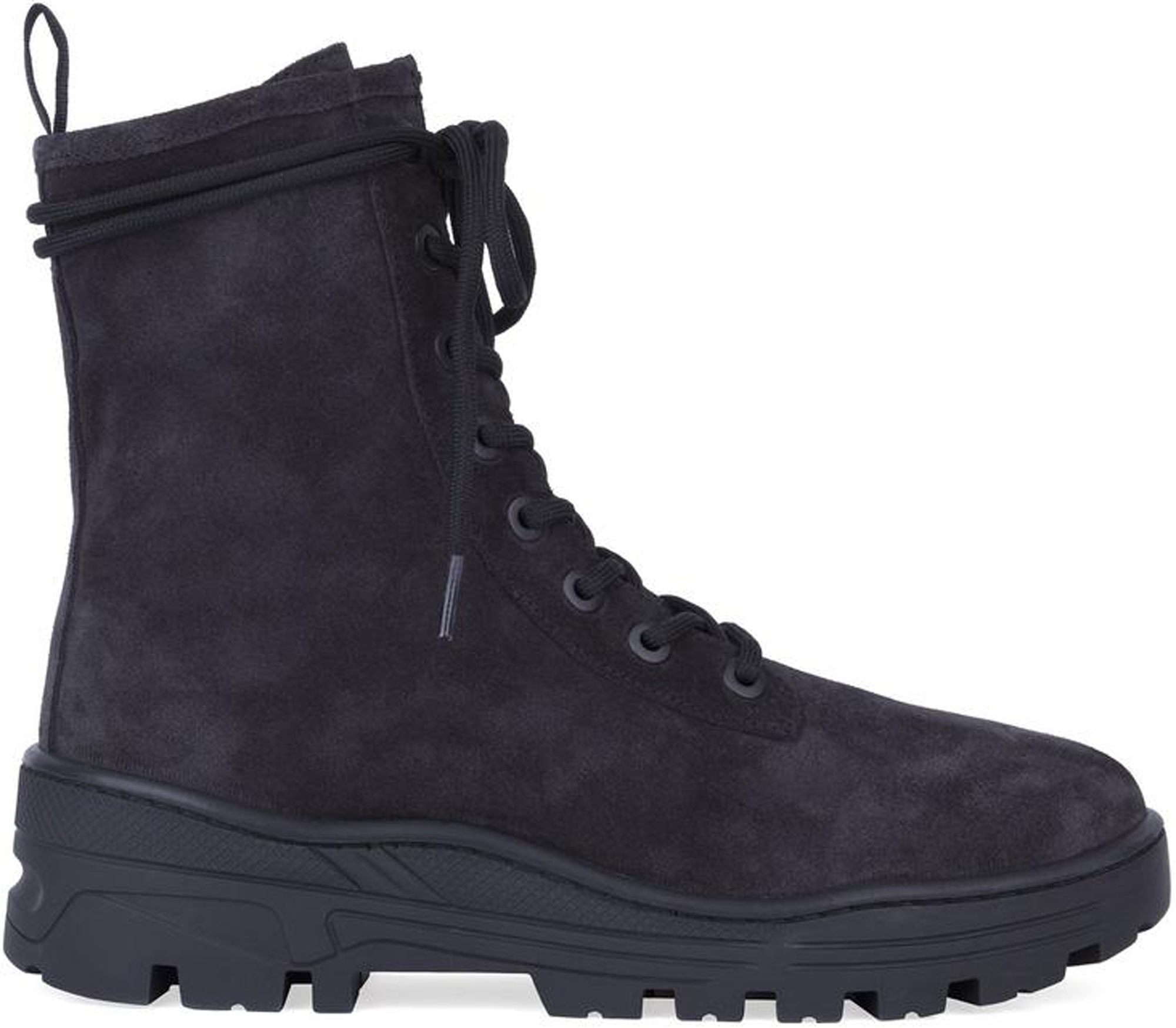 Yeezy Thick Suede Combat Boot Graphite