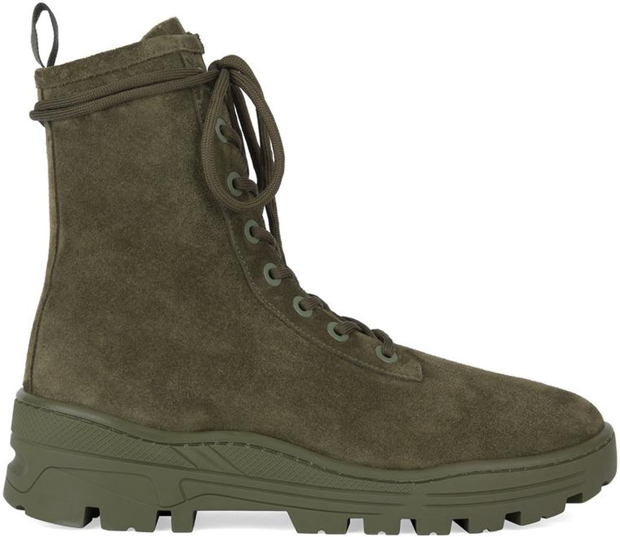 Yeezy Thick Suede Combat Boot Military