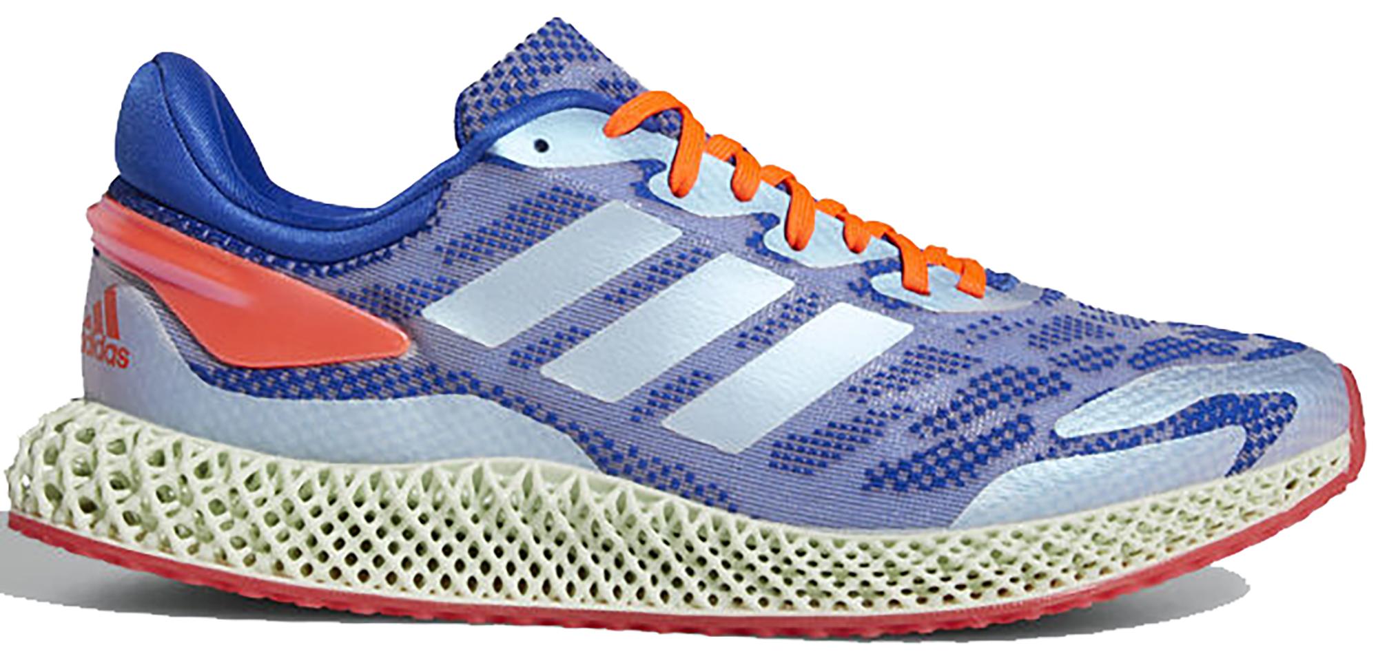 adidas 4D Run 1.0 Glory Blue Solar Red