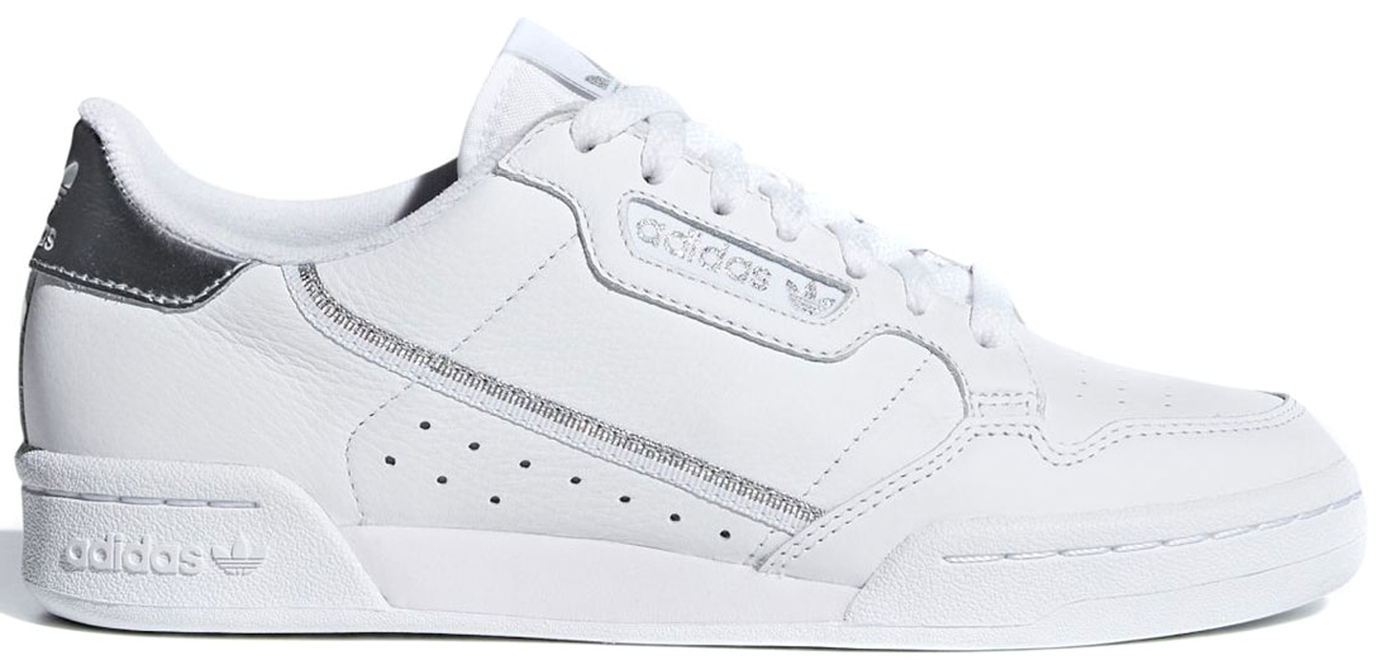 adidas Continental 80 Cloud White Silver Metallic (W)