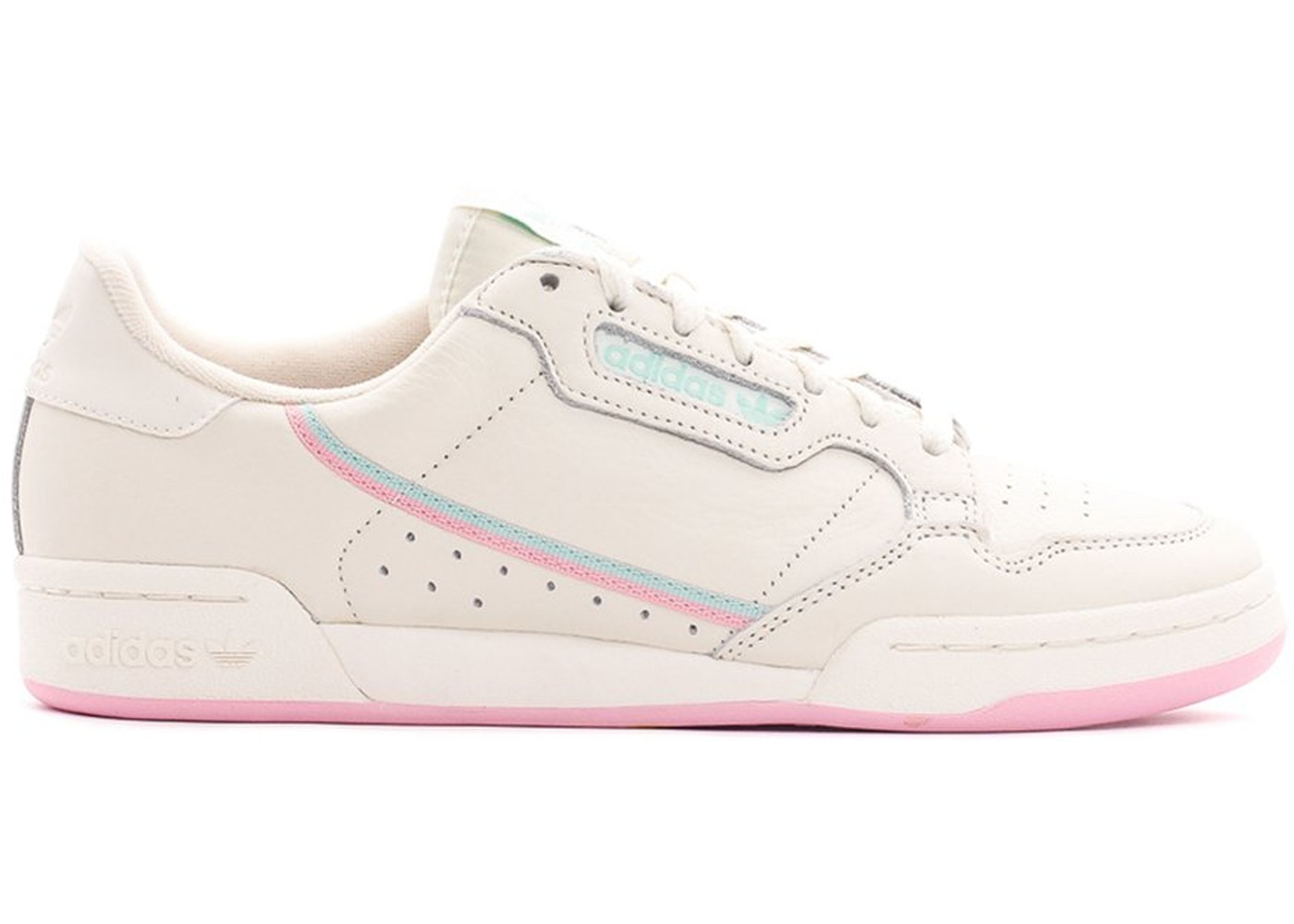 a1ca2317a8e adidas Continental 80 Off White True Pink Clear Mint