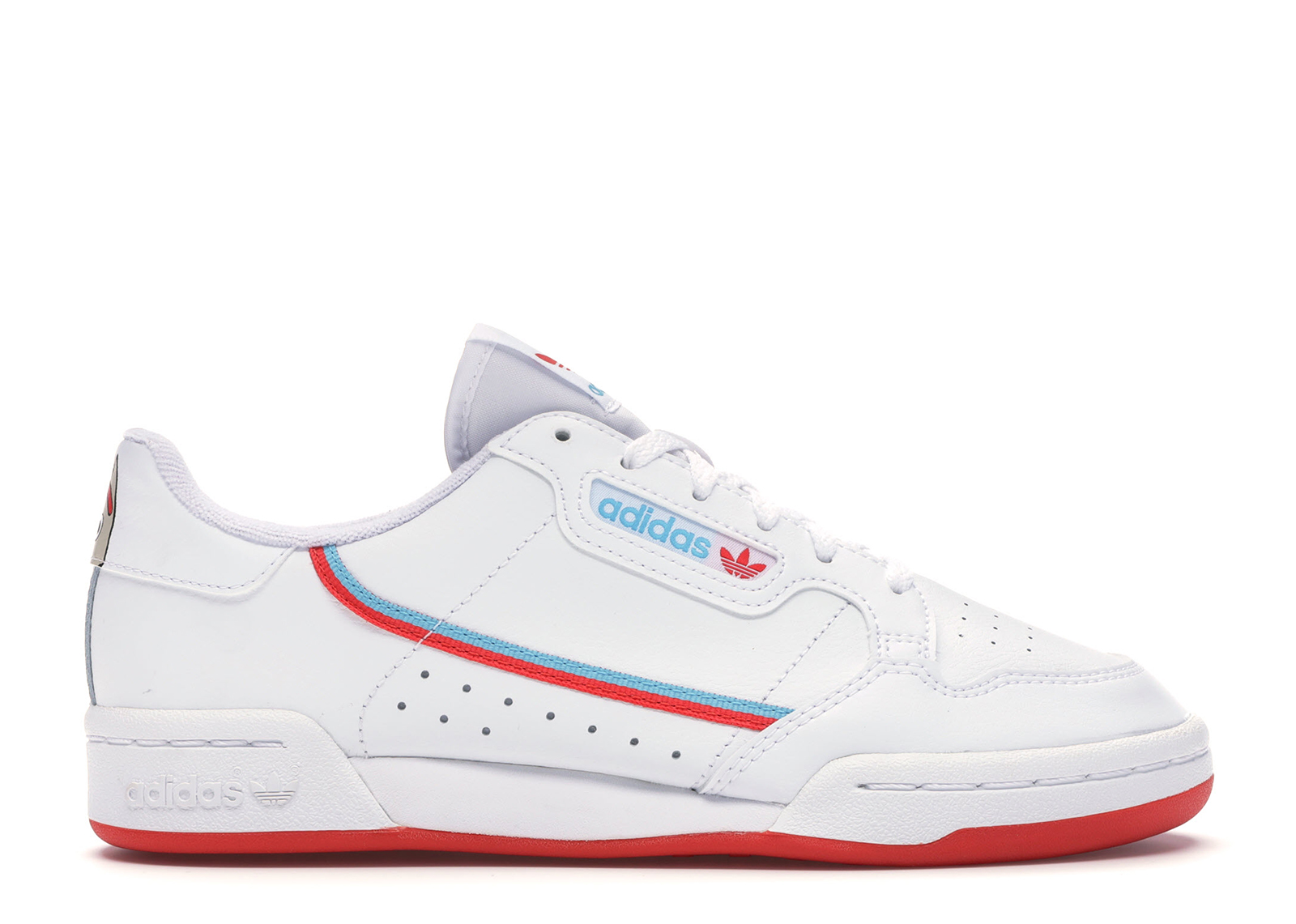 Adidas Originals Adidas Continental 80 Toy Story 4 Forky (youth) In Cloud White/bright Red/bright Cyan