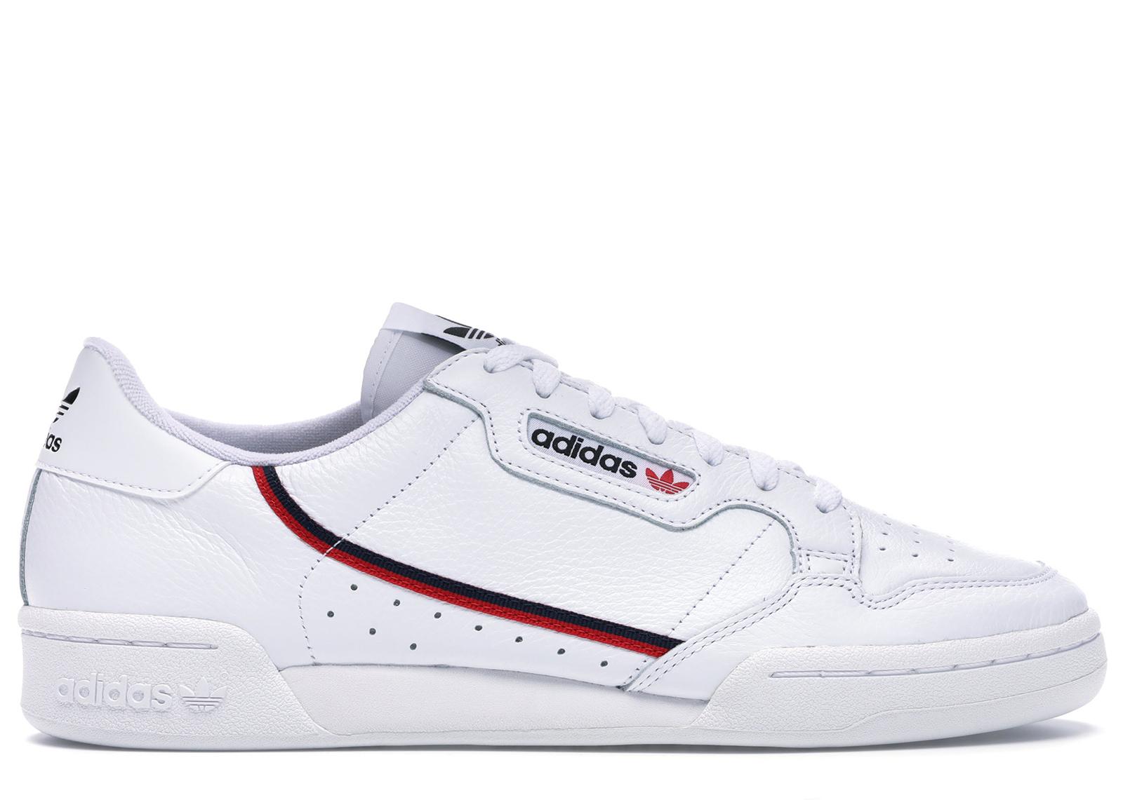 adidas Continental 80 White Scarlet