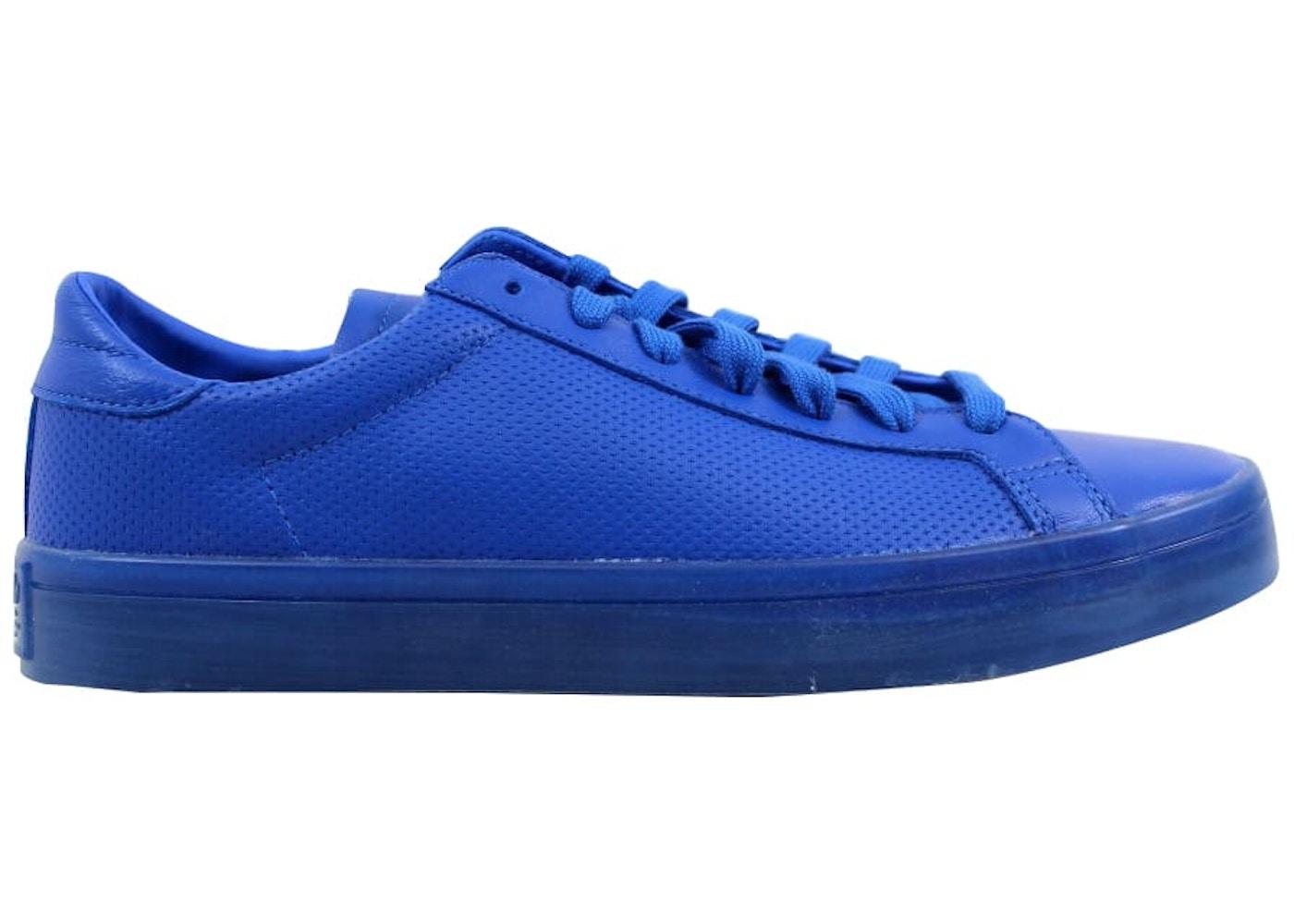 newest 12801 ed1f2 adidas Court Vantage Adicolor Blue