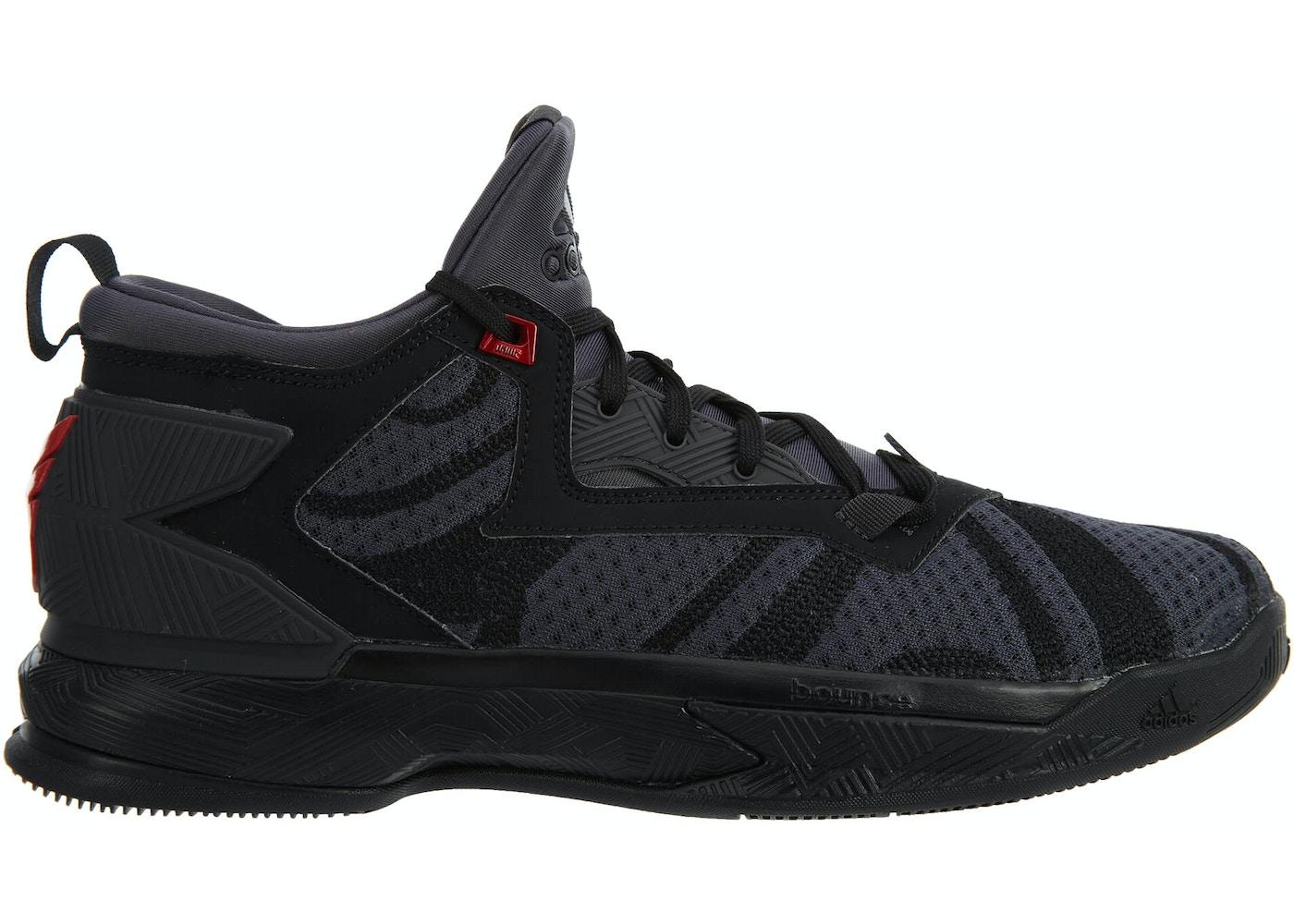 adidas D Lillard 2 Core Black Vivid Red - B42355 882b3e524