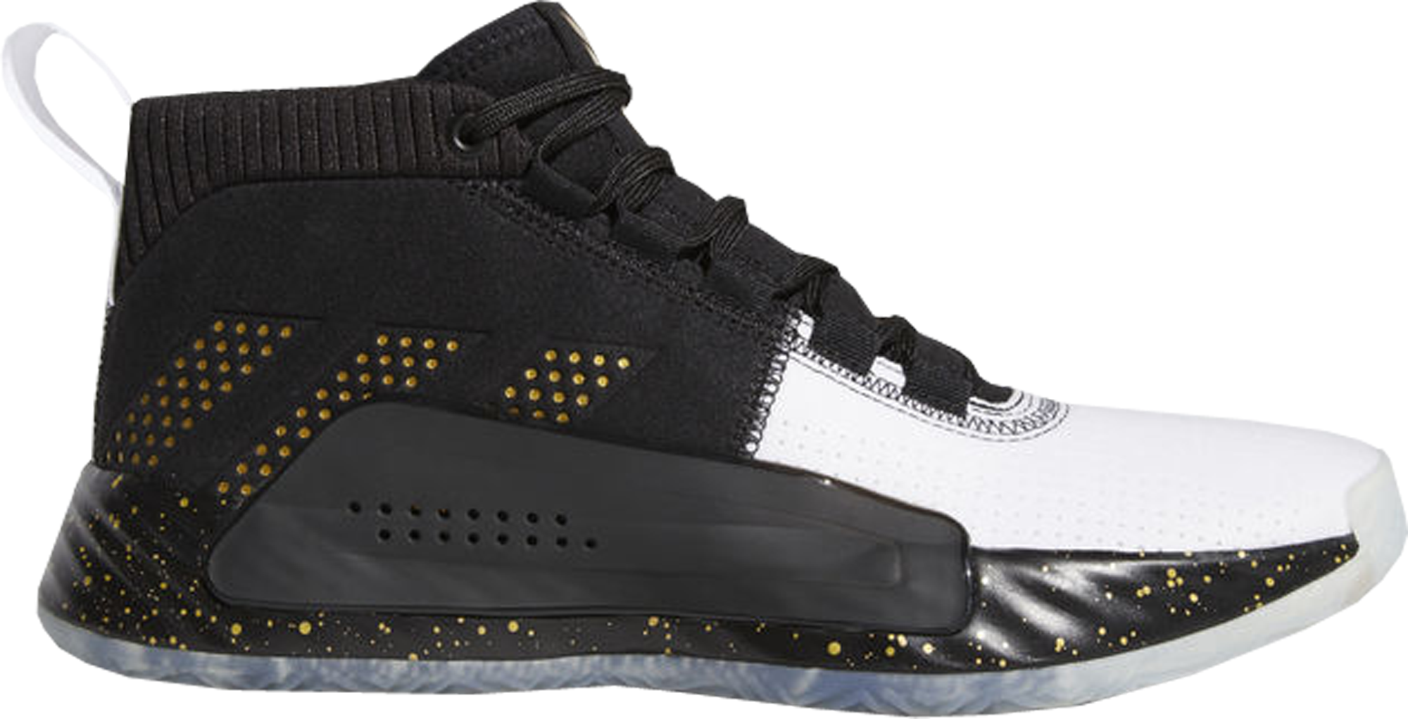 adidas Dame 5 Black Gold White - G28821