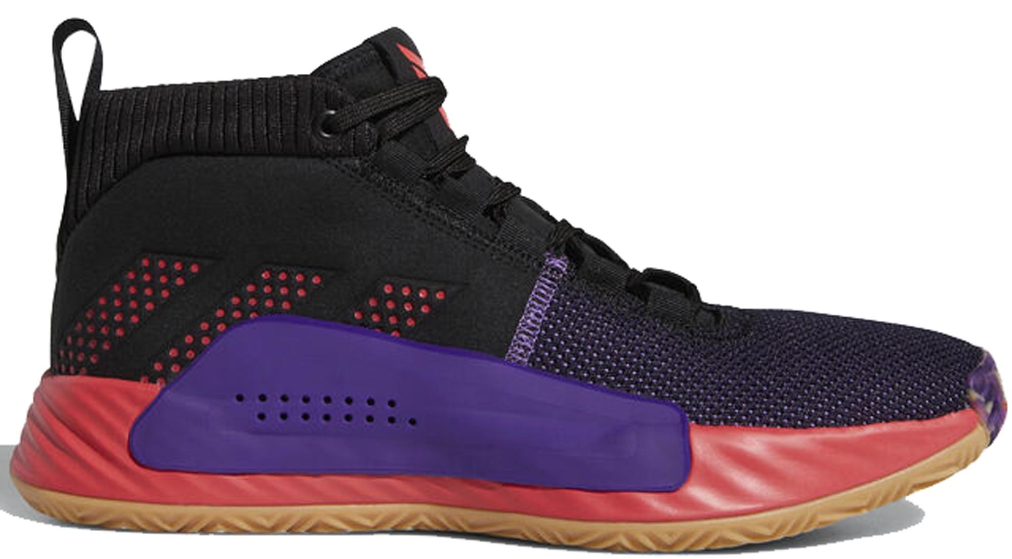 adidas Dame 5 Black Red Purple - BB9313