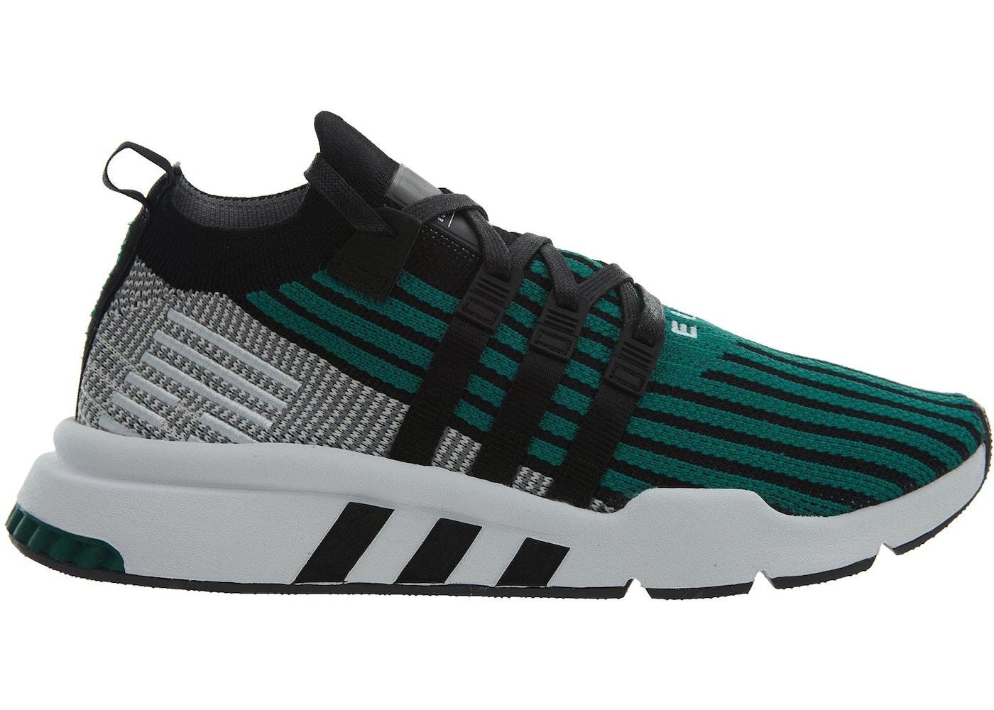 official photos 7ad78 0306c adidas Eqt Support Mid Adv Pk Black Black-Sub Green