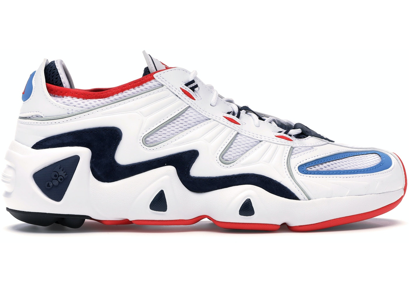 fac9a82c Shoptagr | Adidas Fyw S 97 White Navy Red by Stock X