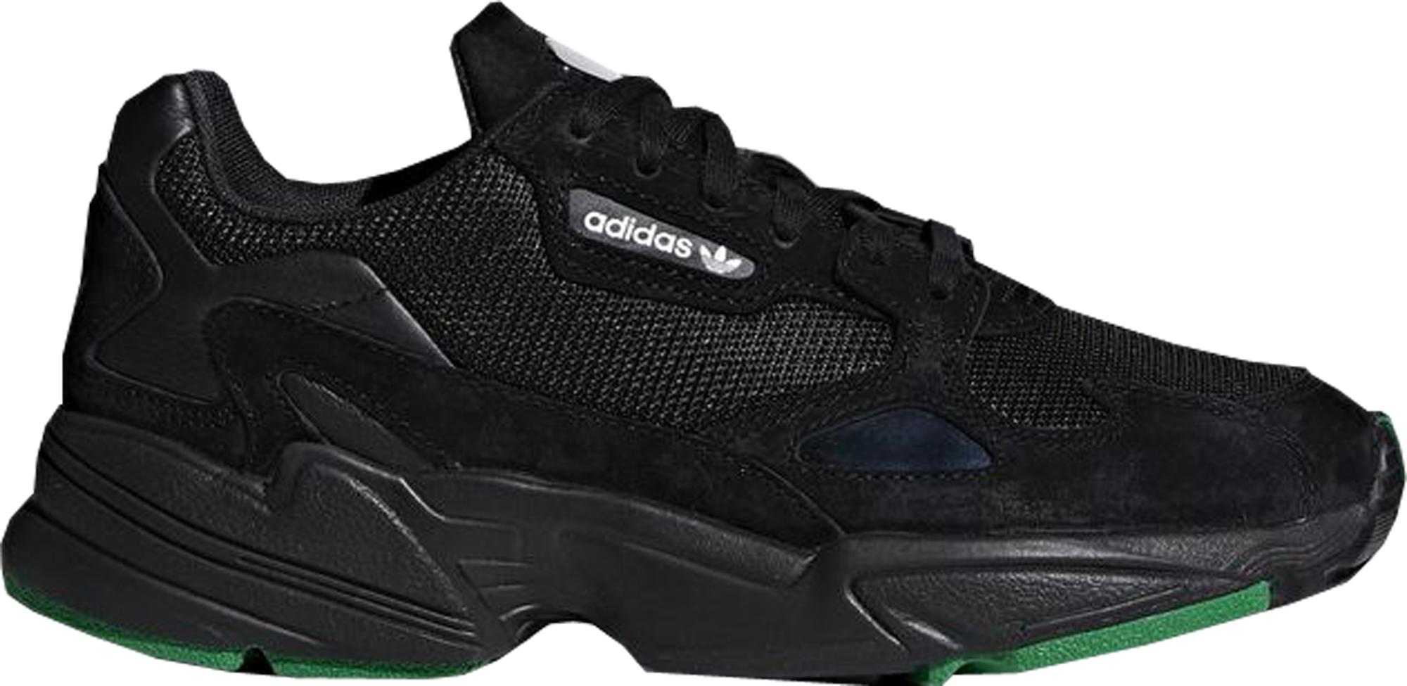adidas Falcon Core Black Green (W) - F97483
