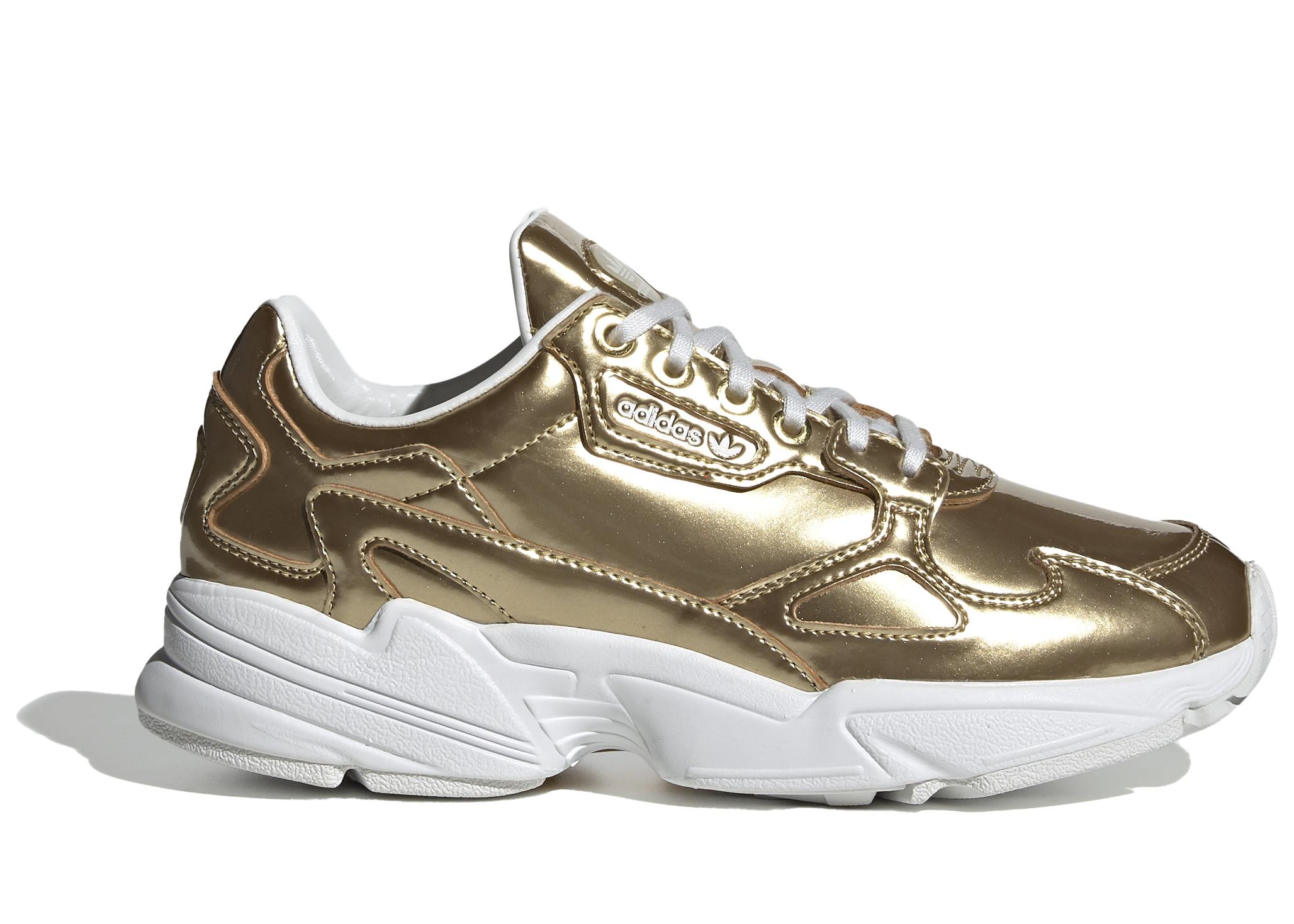 adidas falcon white gold