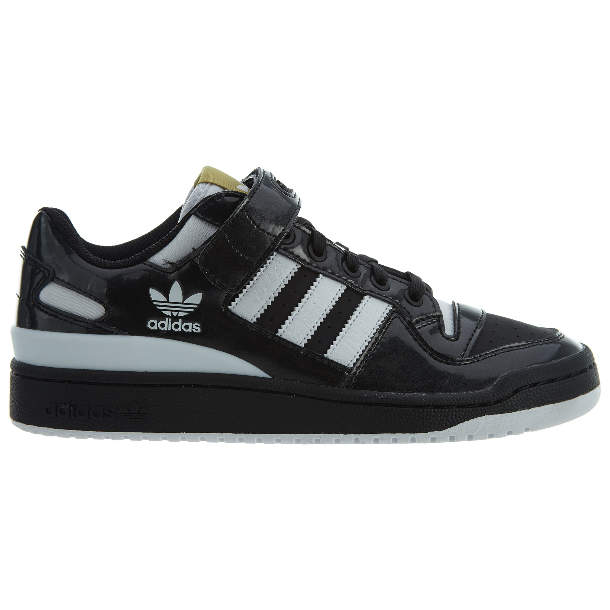 adidas Forum Lo Black White-Gold Metallic