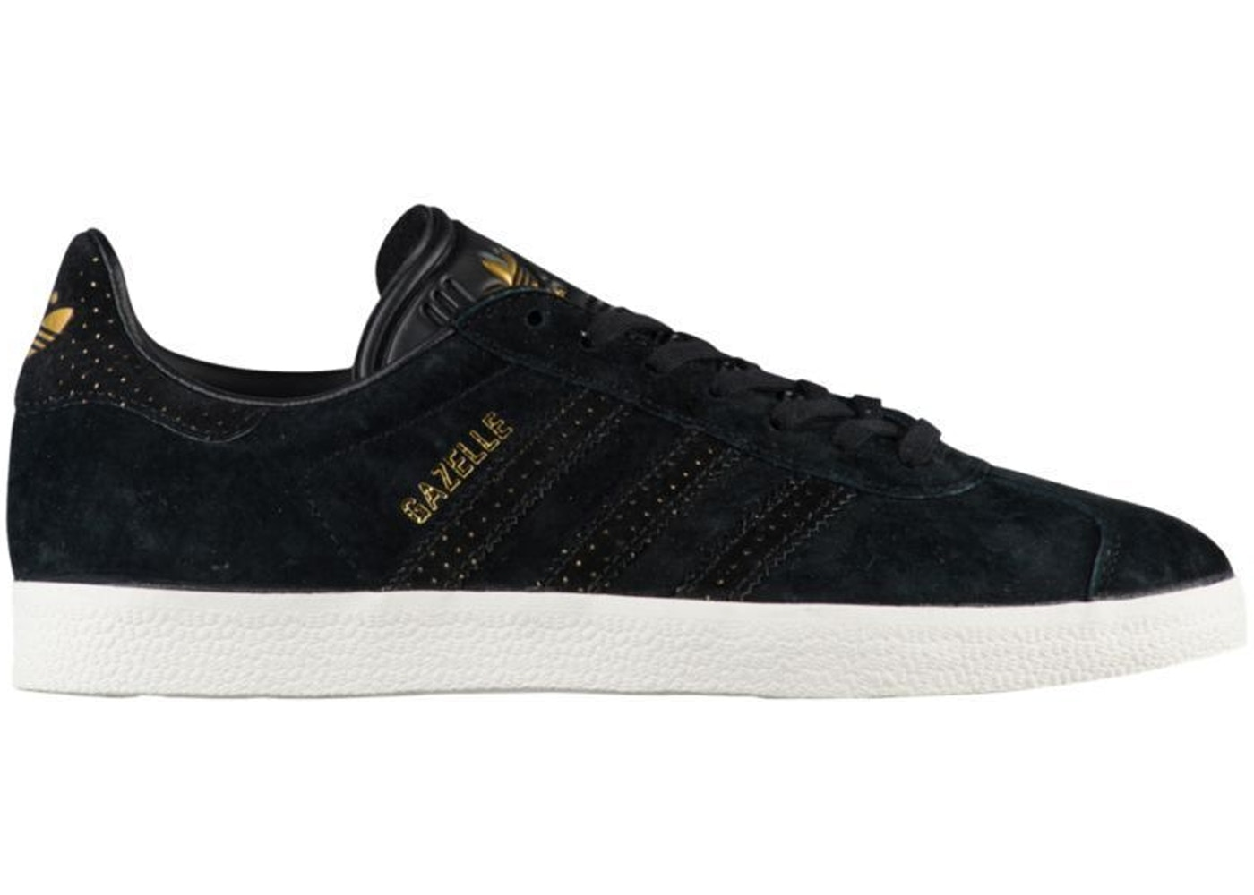 quite nice affordable price official store adidas Gazelle Core Black Gold Metallic (W)