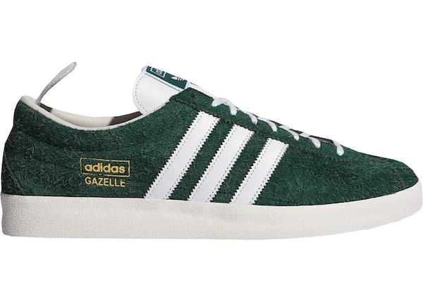adidas gazelle blancas y verdes