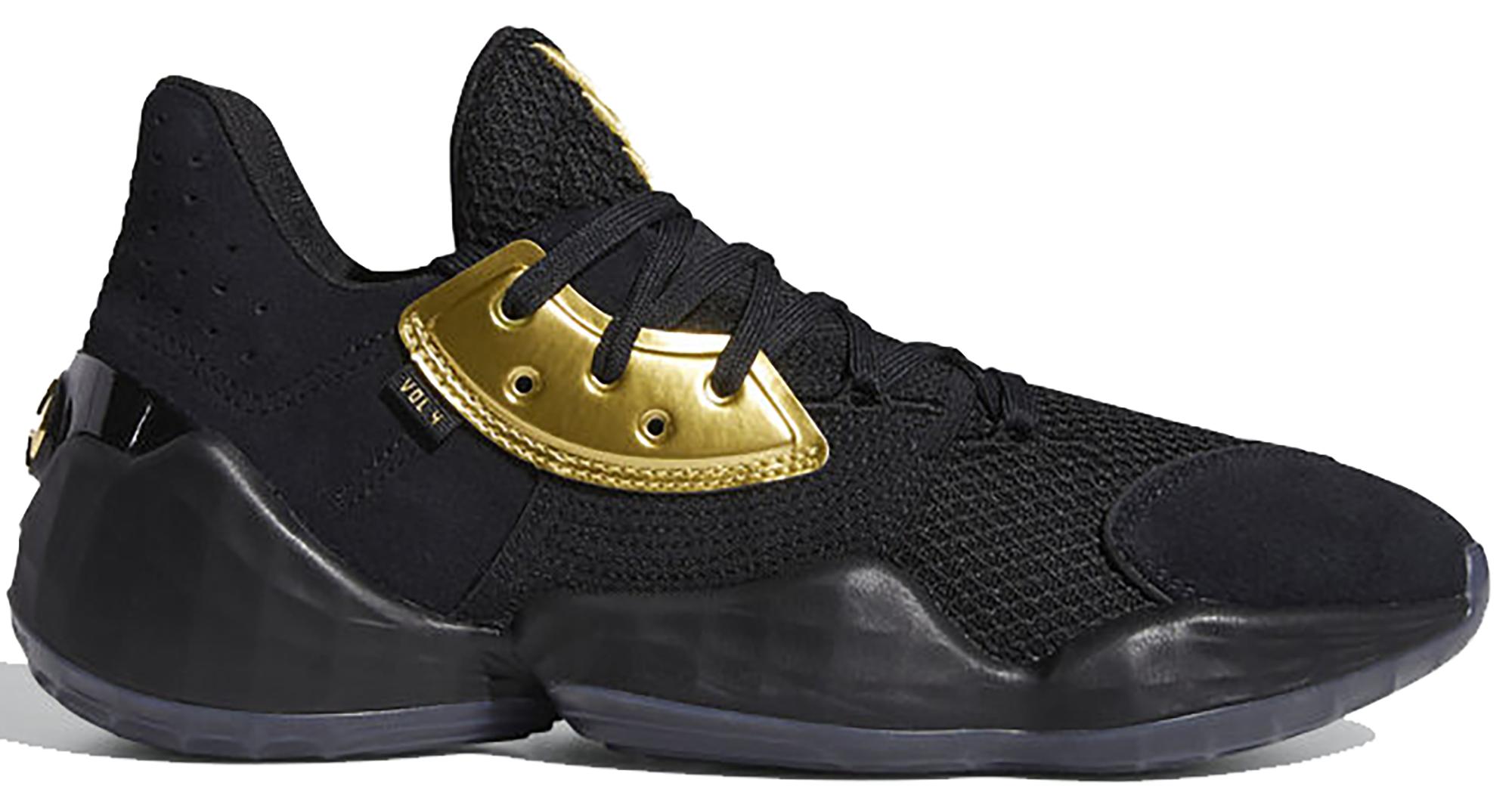 adidas Harden Vol. 4 Core Black Gold