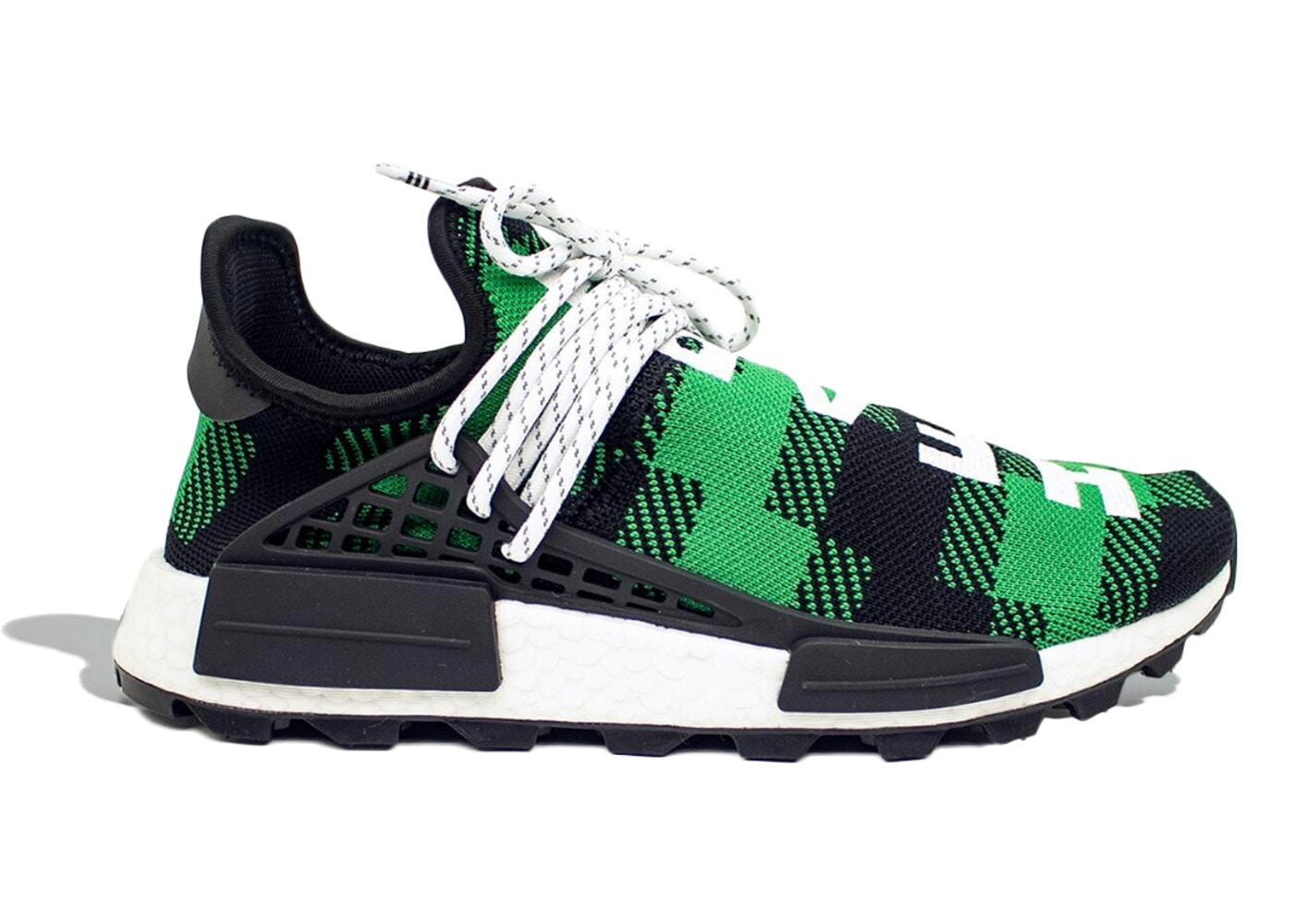 8778e802 adidas NMD Hu Pharrell x BBC Green Plaid - Sneakers