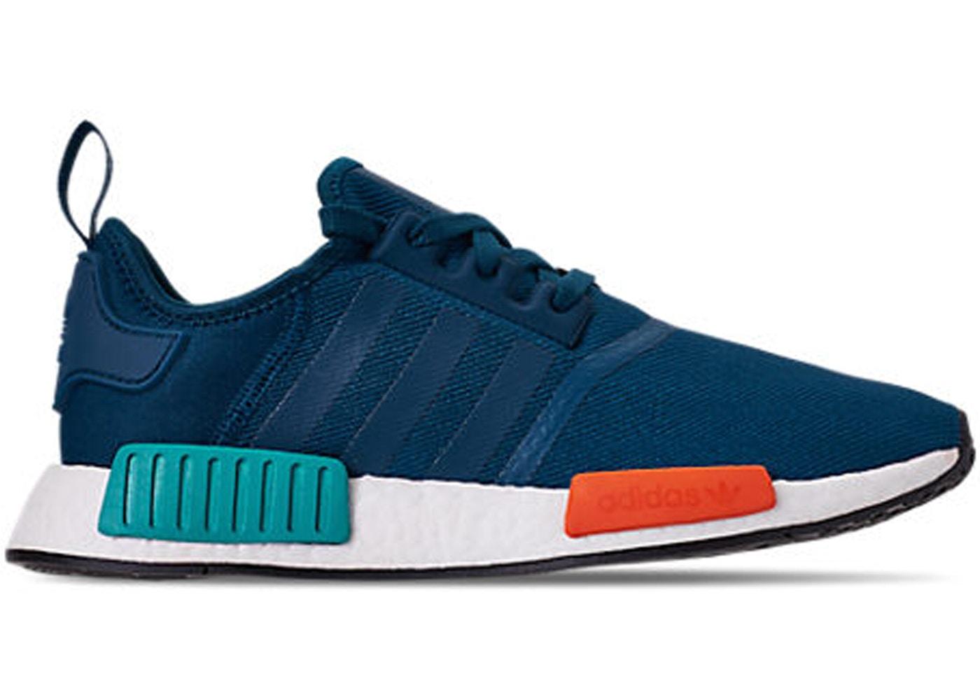 adidas nmd r1 v2 white orange blue