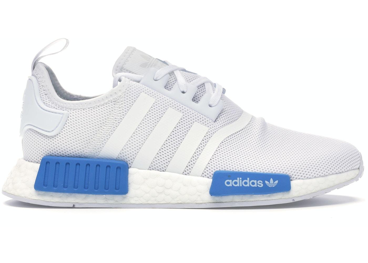 Adidas Nmd R1 Cloud White Bright Blue Youth Aq1785