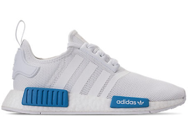 new arrival 39609 86b35 adidas NMD R1 Cloud White Bright Blue (GS)