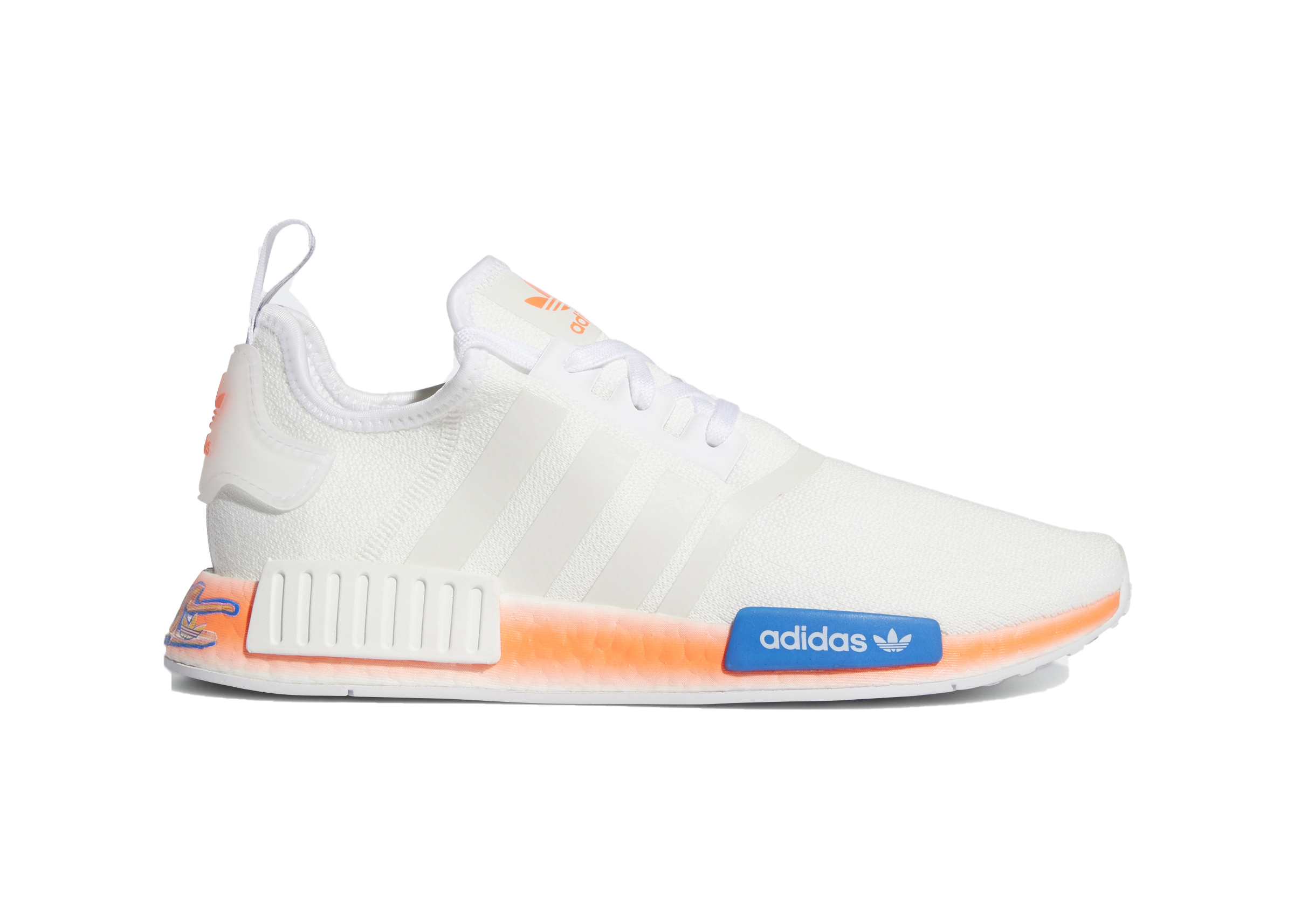 adidas NMD_R1 Cloud White Orange - FV7852