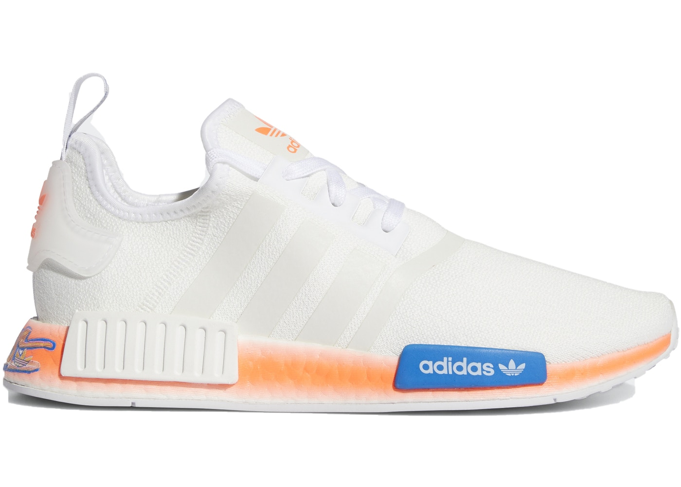 Adidas Nmd R1 Cloud White Orange Fv7852