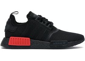 adidas NMD R1 Core Black Lush Red