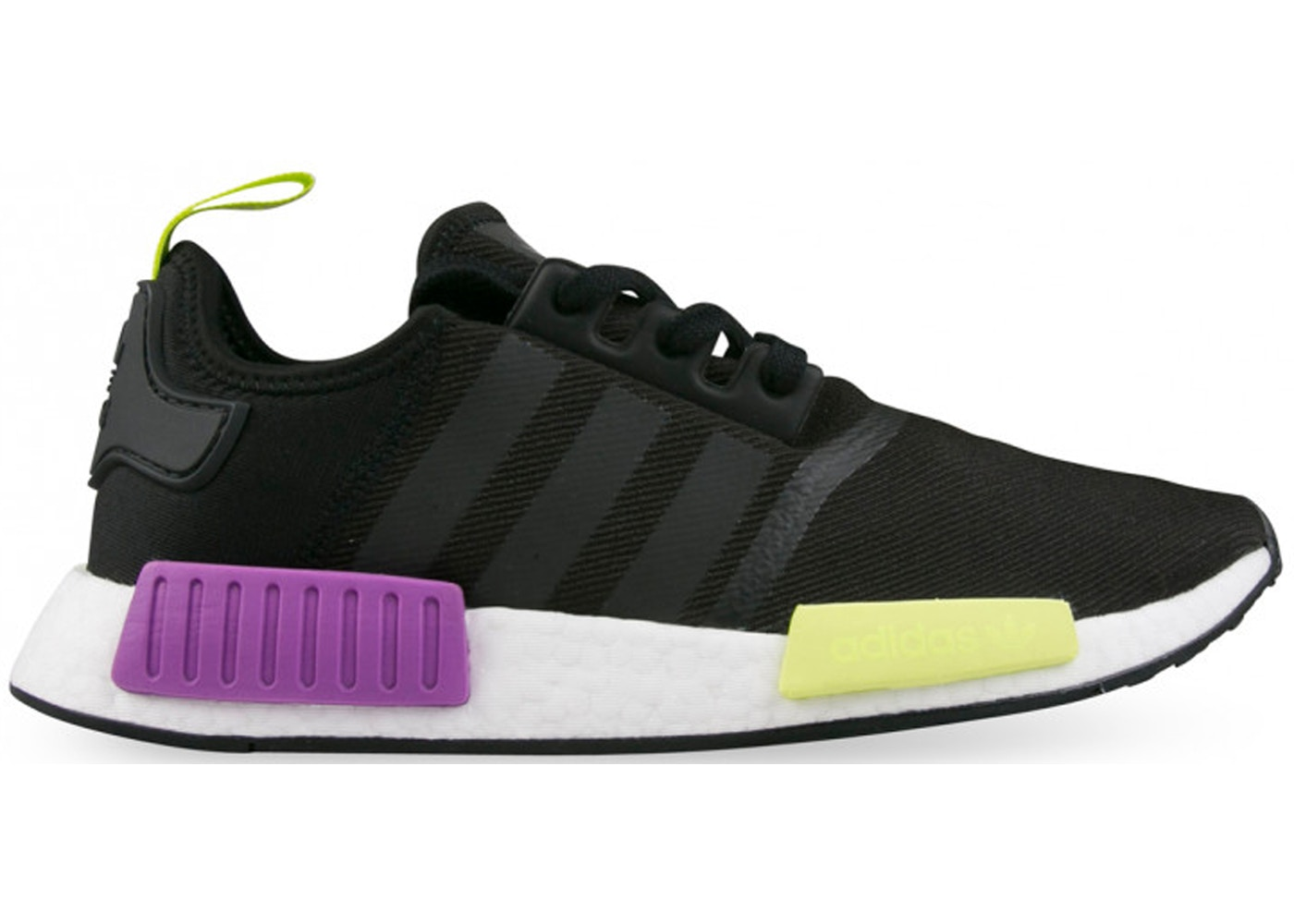 super popular b7afb ee5b0 adidas NMD R1 Core Black Shock Purple - D96627