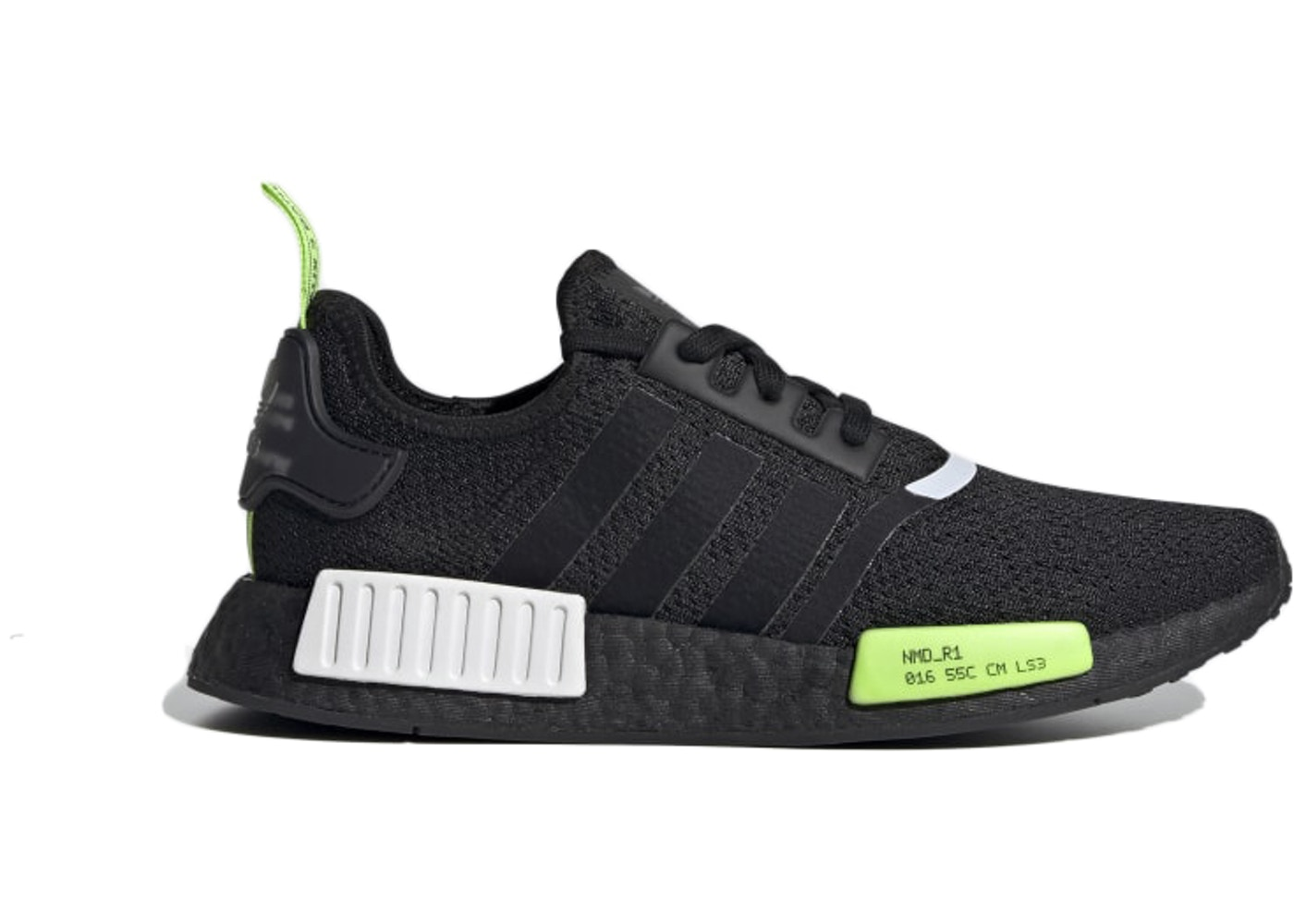 Adidas Nmd R1 Core Black Signal Green Ef4268