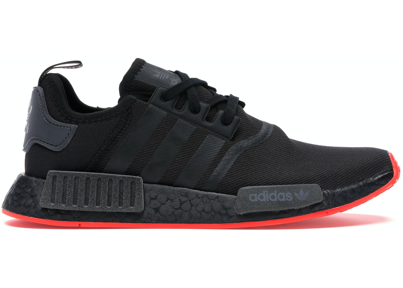 Adidas Nmd R1 Core Black Solar Red F35881