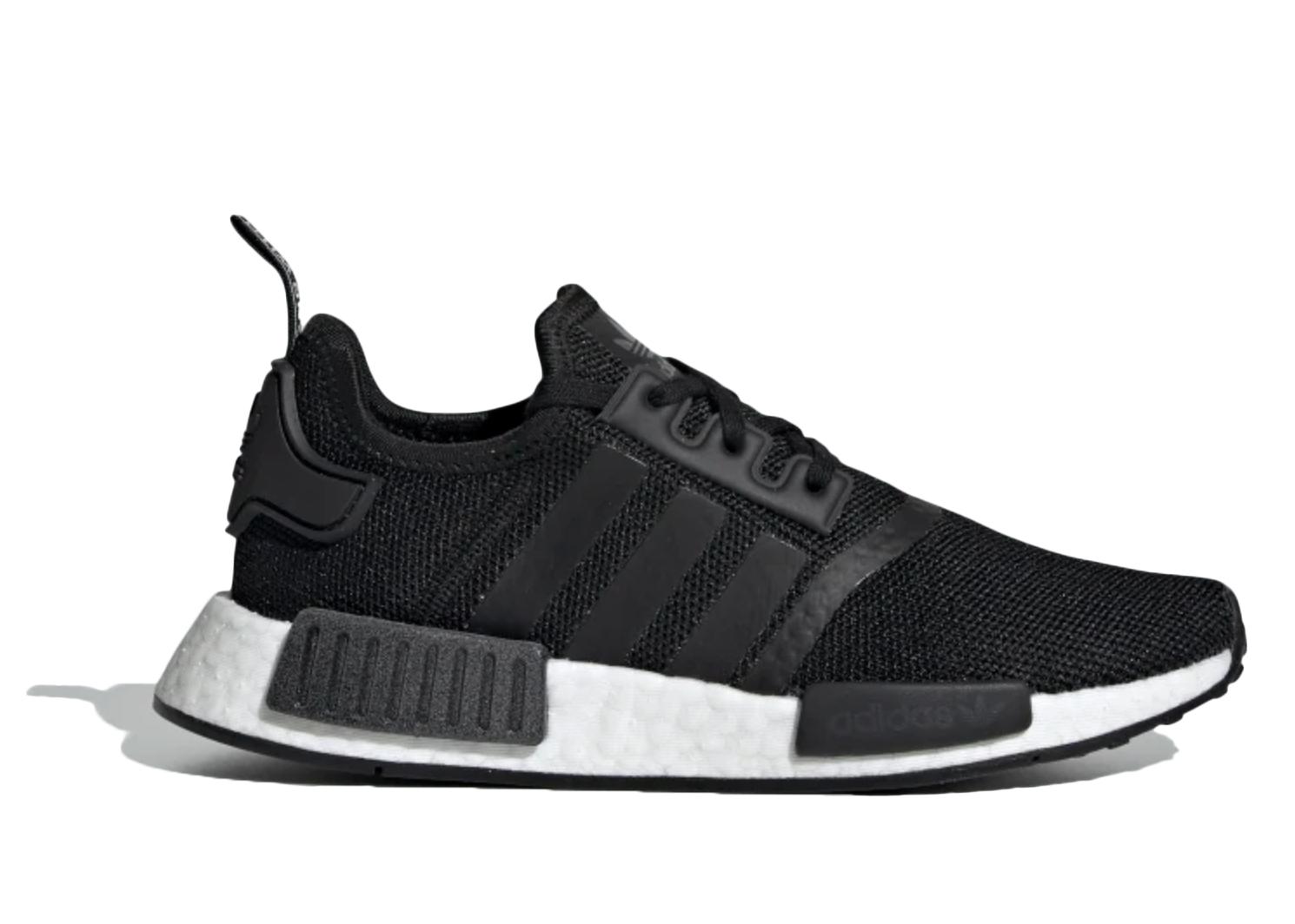 Adidas Originals Adidas Nmd R1 Core Black White (gs) In Core Black/core Black/cloud White