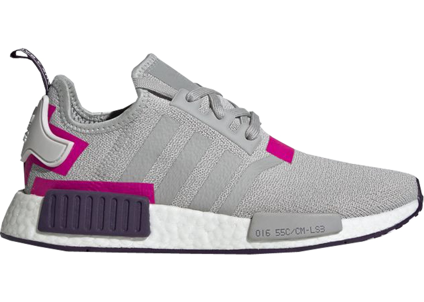 reputable site e2e7f 83b57 adidas NMD R1 Grey Shock Pink (W)