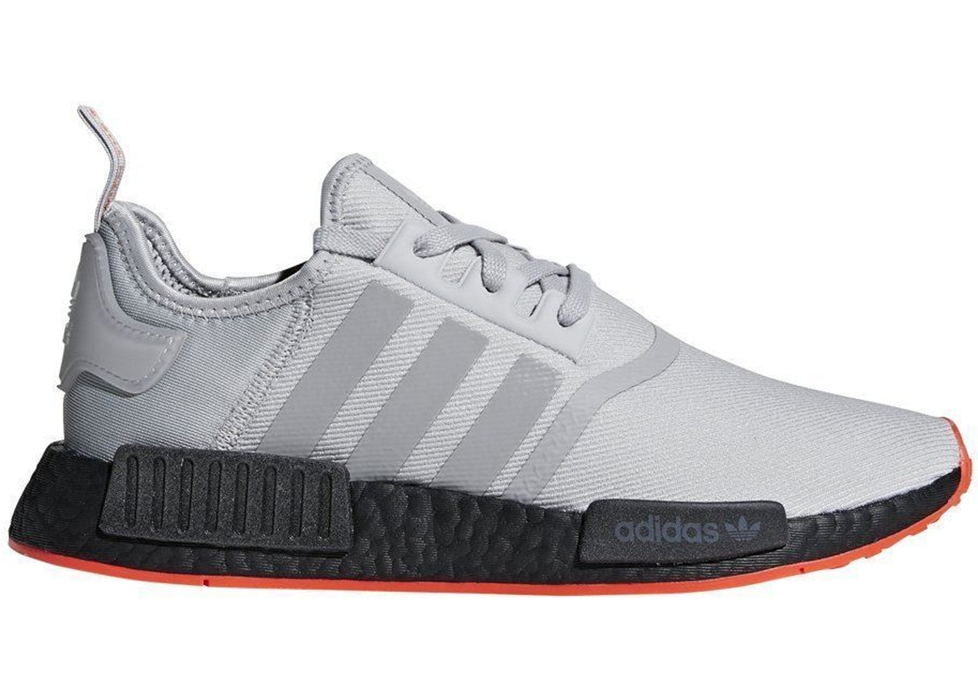 official photos a0b84 bdb30 adidas NMD R1 Grey Solar Red